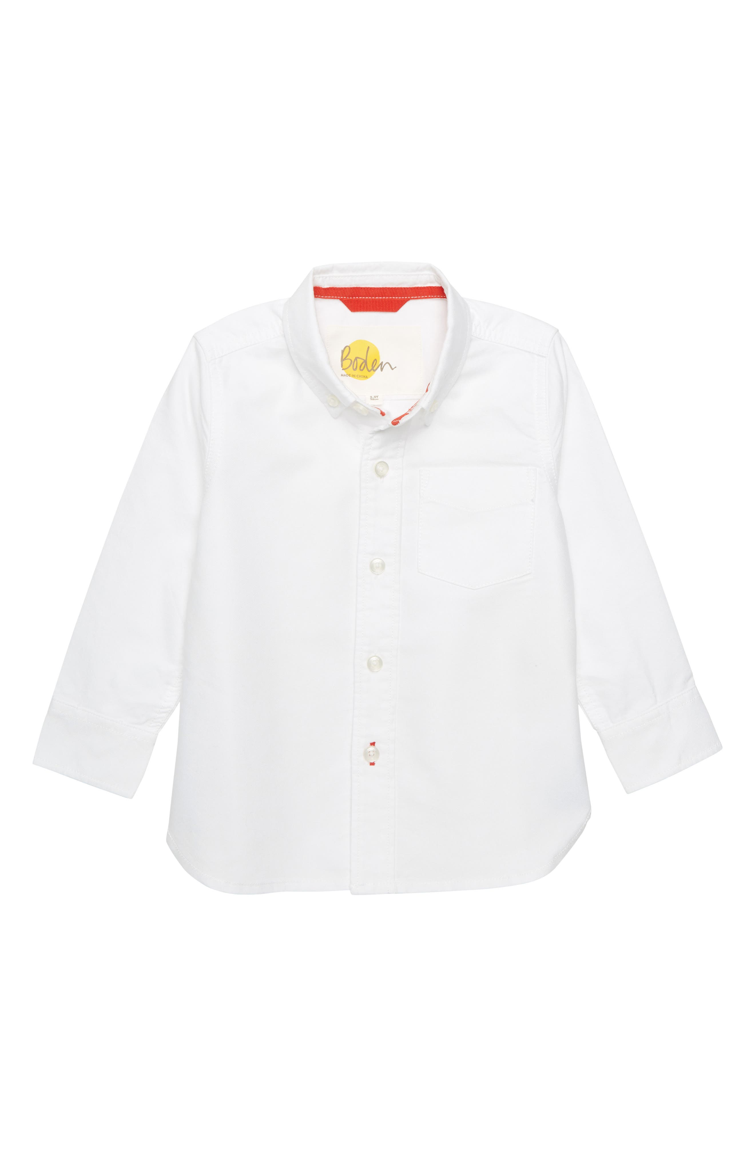 Oxford Shirt, Main, color, WHITE OXFORD