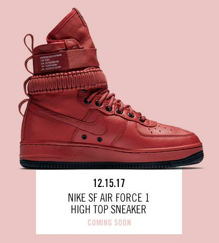 Nordstrom x Nike: new and hot Nike SF Air Force 1 High Top Sneaker.