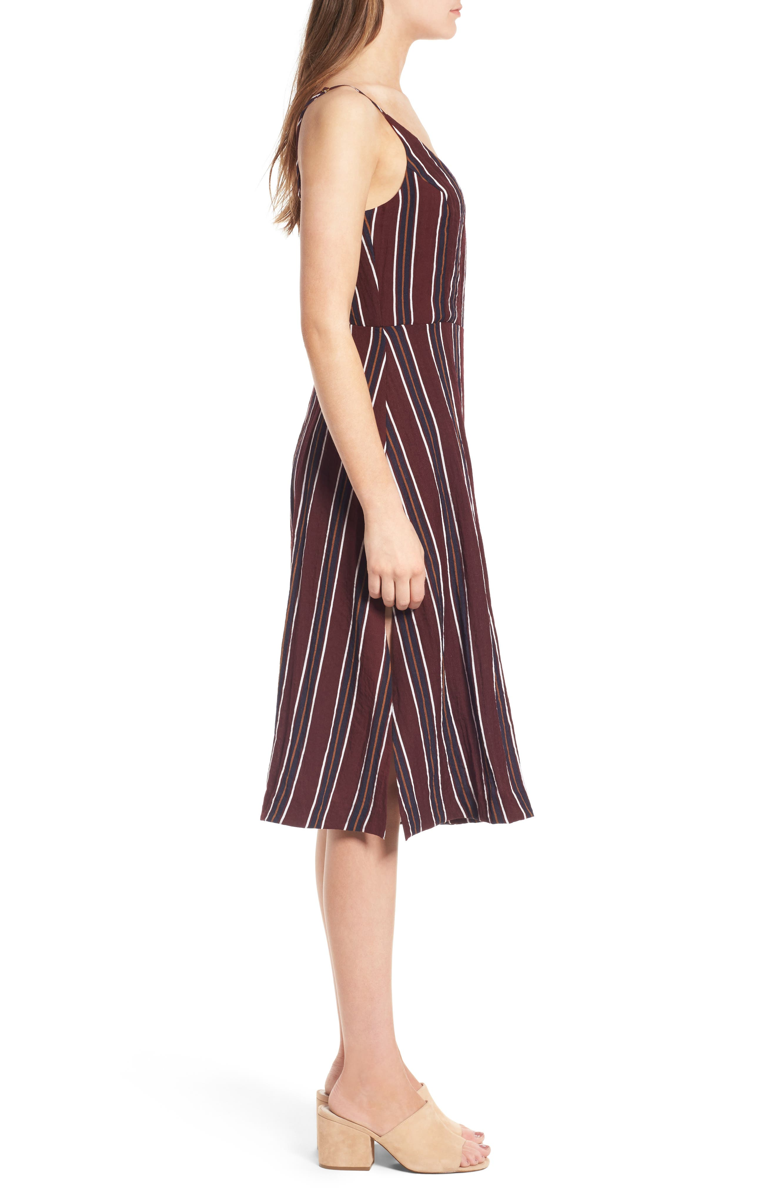 Stripe Wide Leg Jumpsuit,                             Alternate thumbnail 3, color,                             930