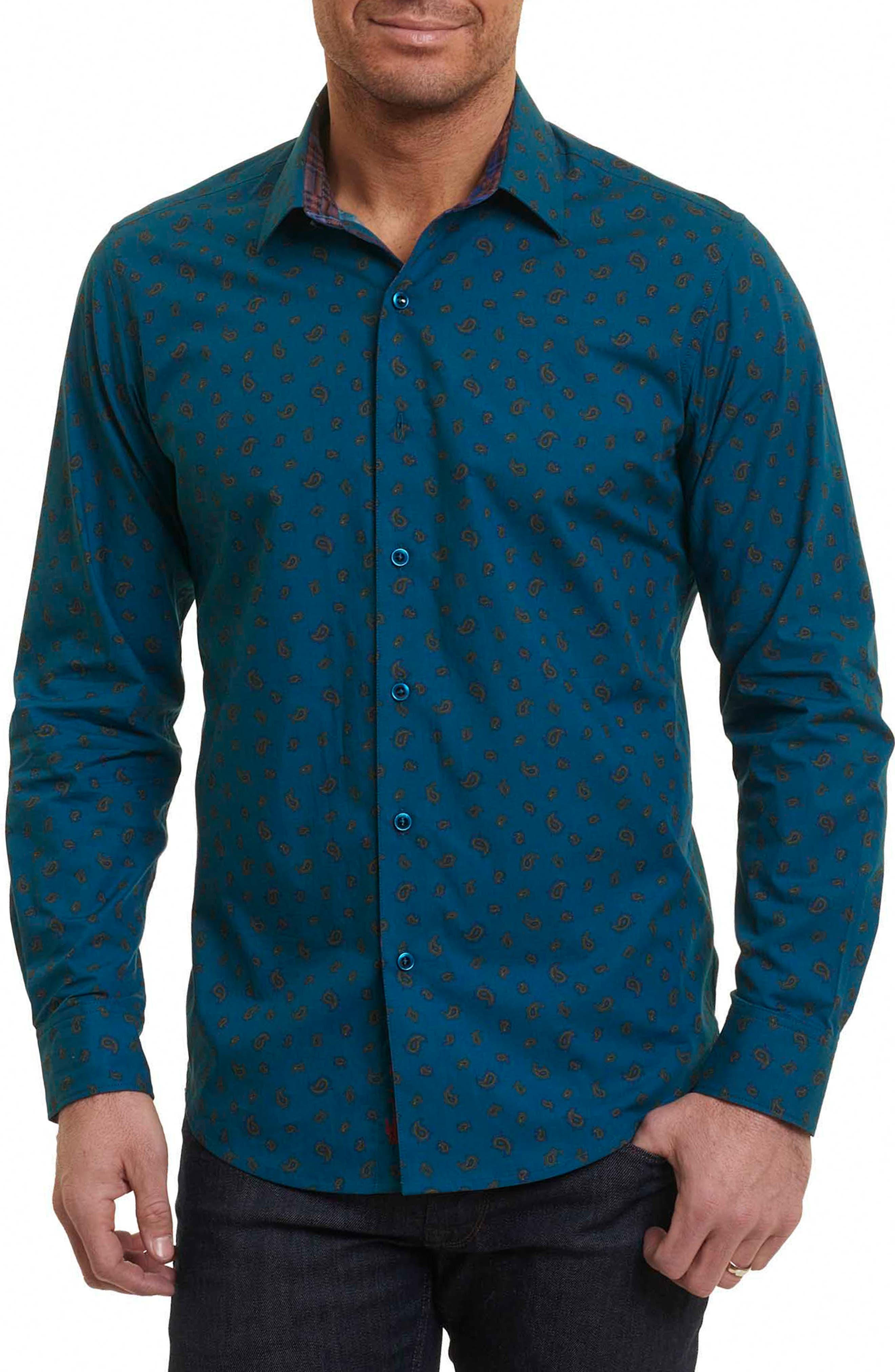 Cold Spring Classic Fit Paisley Sport Shirt,                             Main thumbnail 1, color,                             463