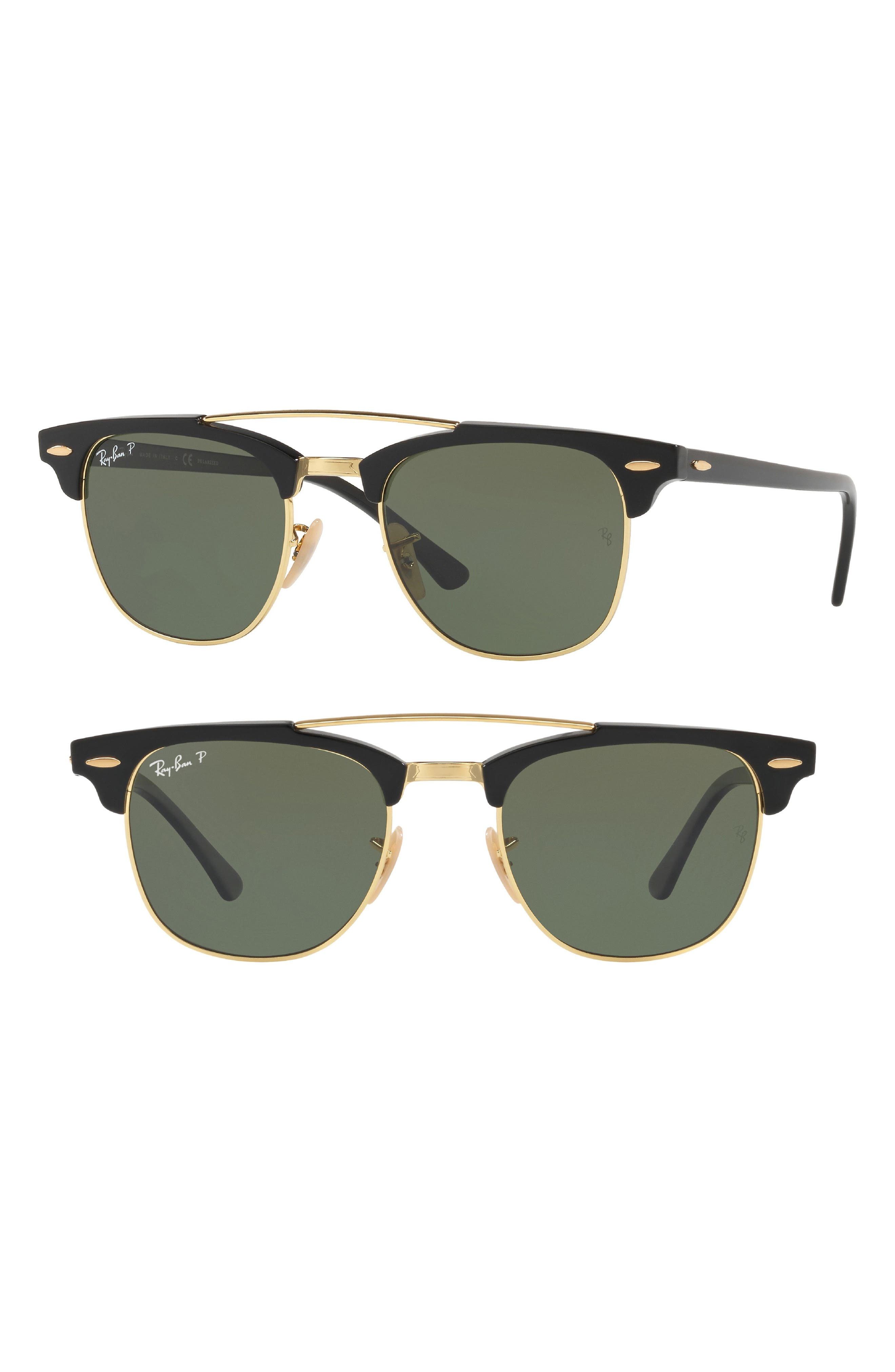 51mm Gradient Mirrored Sunglasses,                             Main thumbnail 1, color,                             001