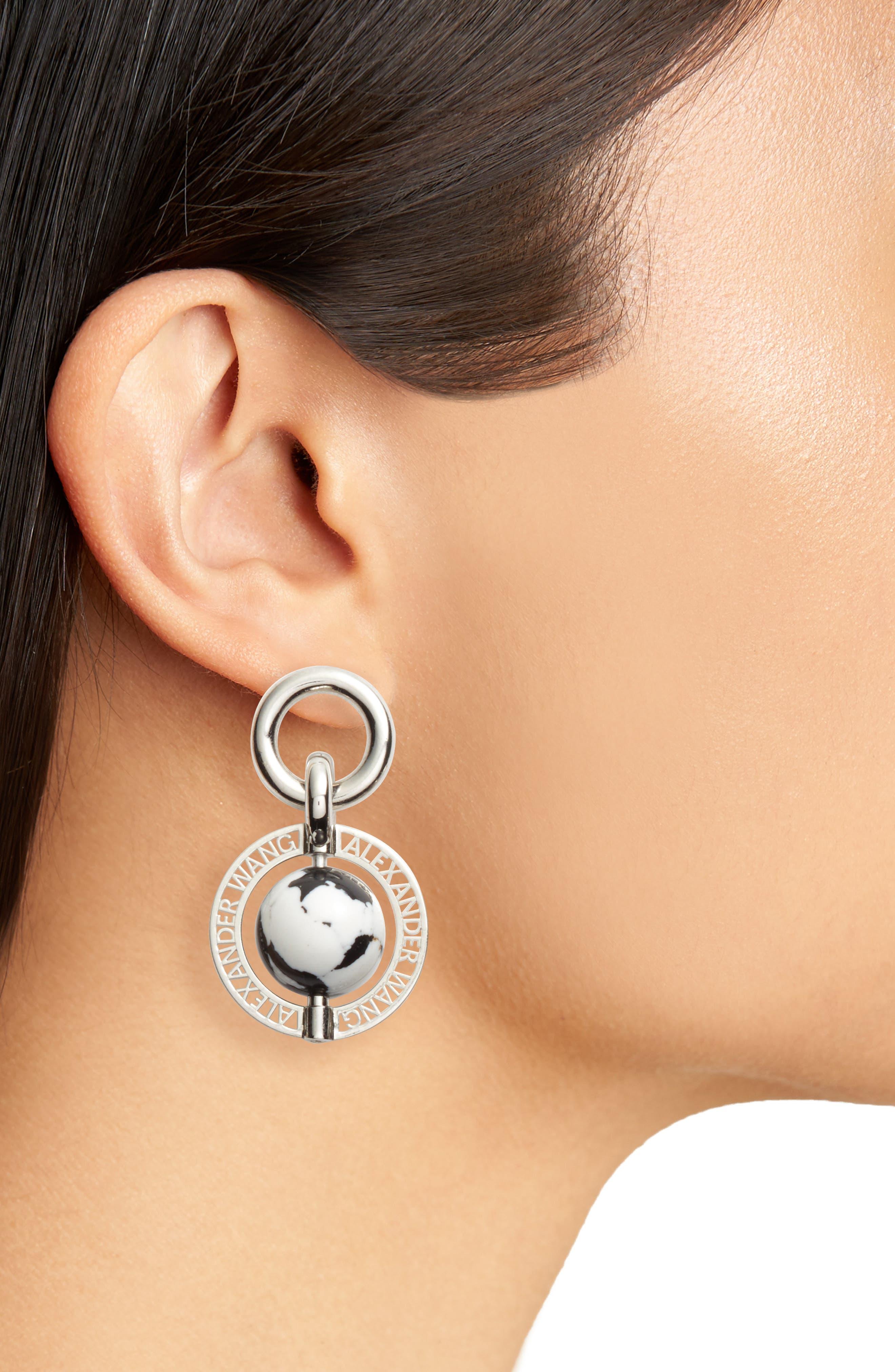 Globe Drop Earrings,                             Alternate thumbnail 2, color,                             040