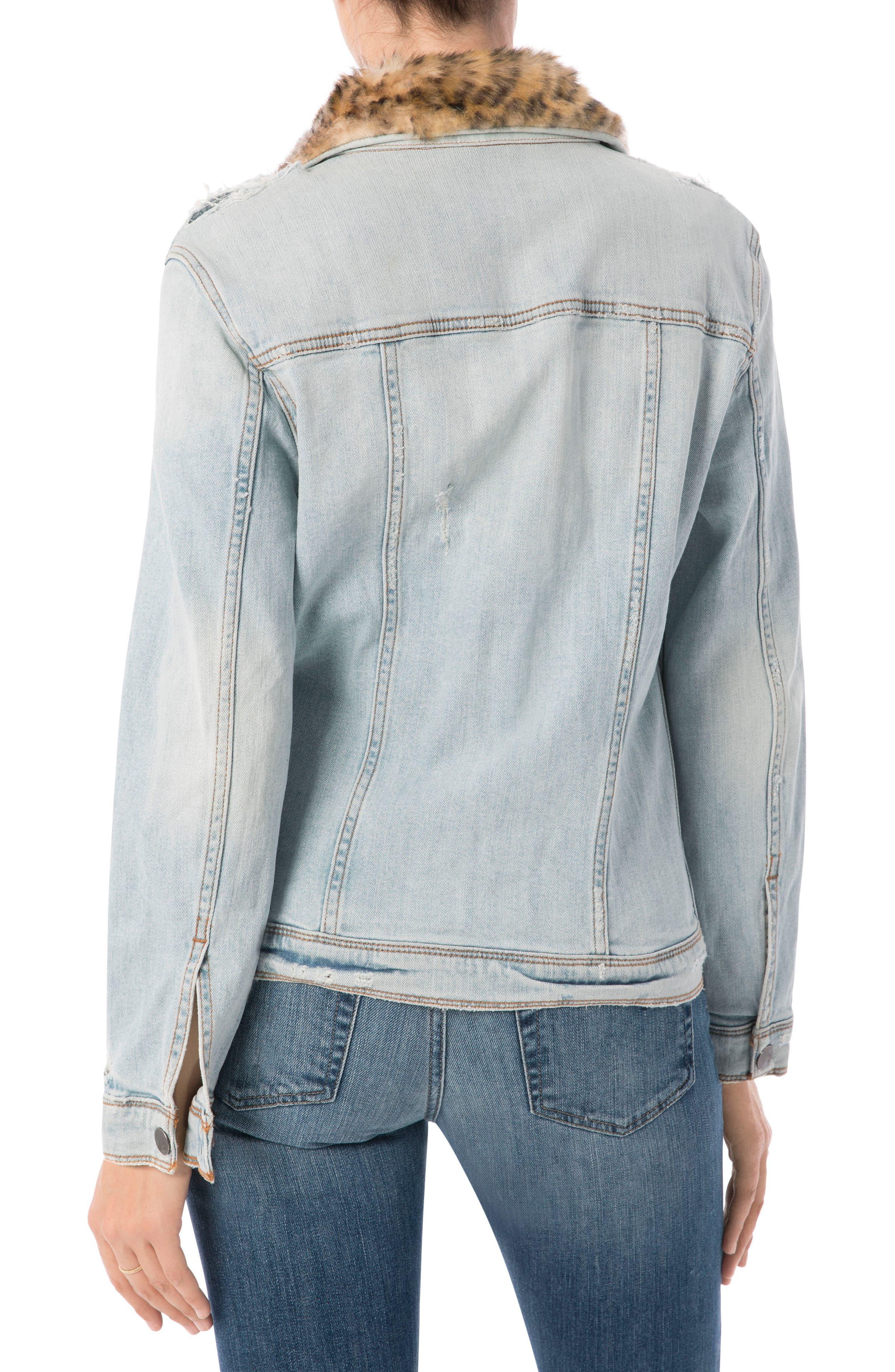 The Harper Faux Fur Collar Jacket,                             Alternate thumbnail 2, color,                             450
