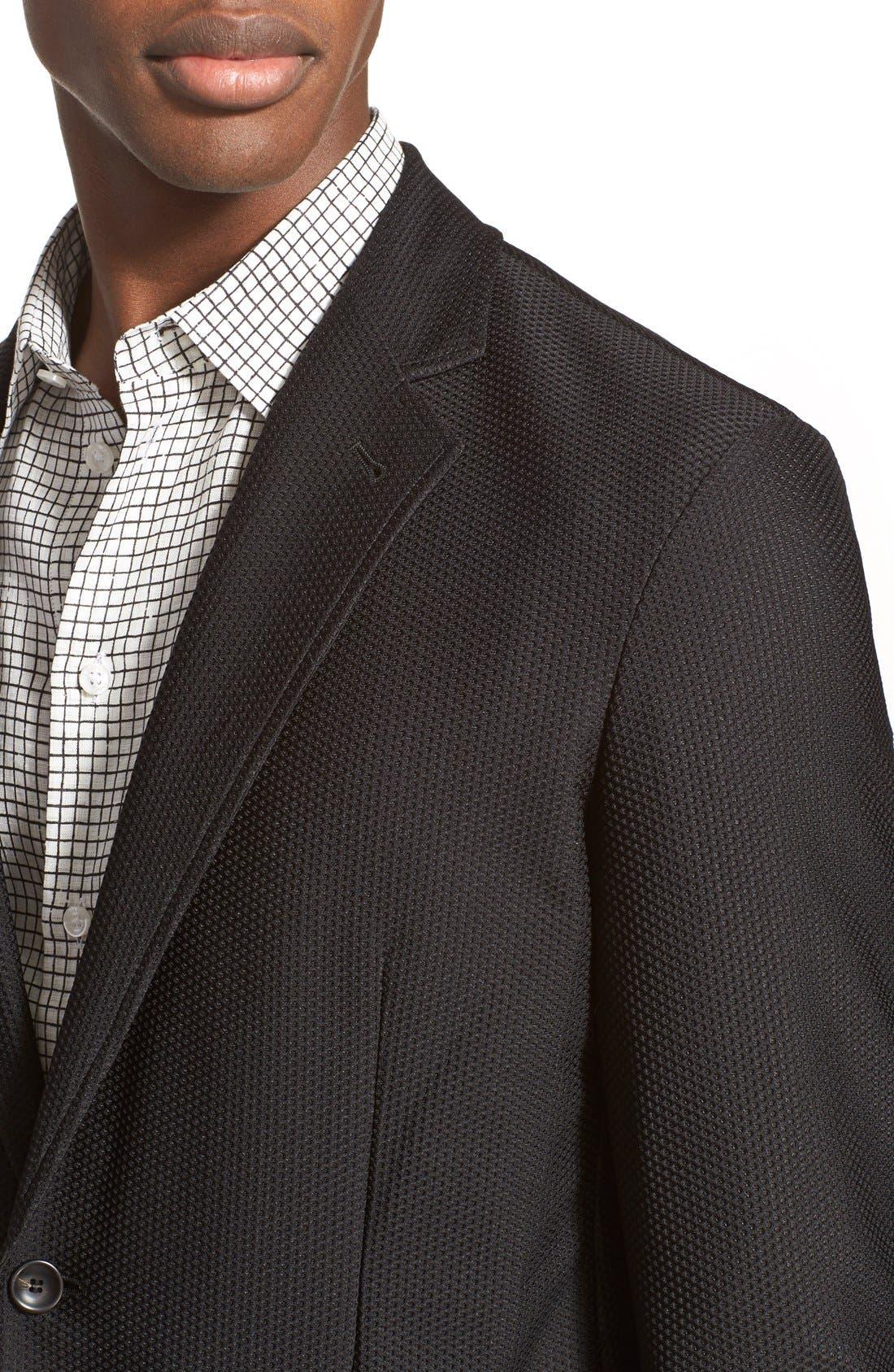 Trim Fit Textured Sport Coat,                             Alternate thumbnail 4, color,                             004