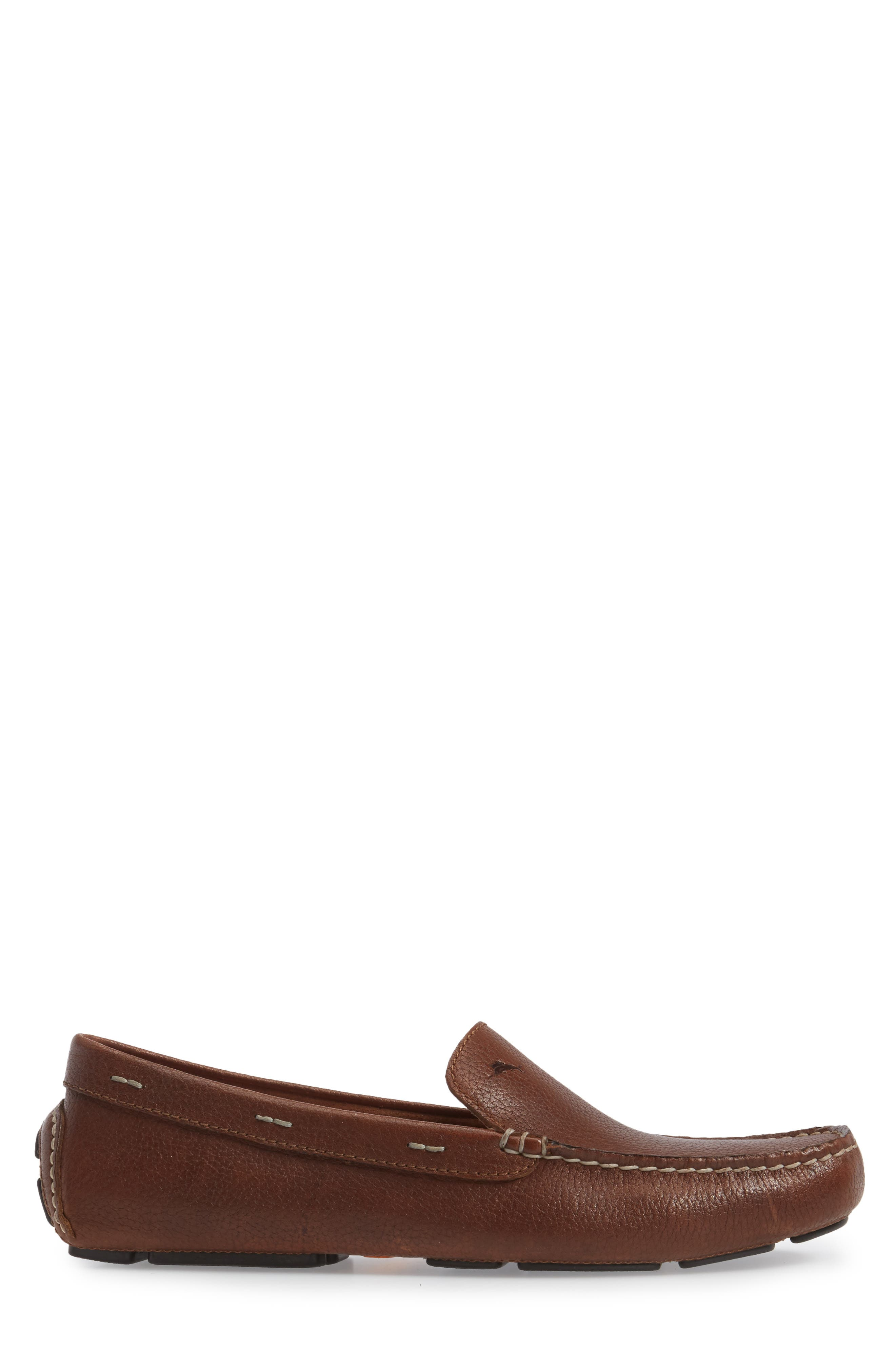 Pagota Driving Loafer,                             Alternate thumbnail 3, color,                             DARK BROWN LEATHER