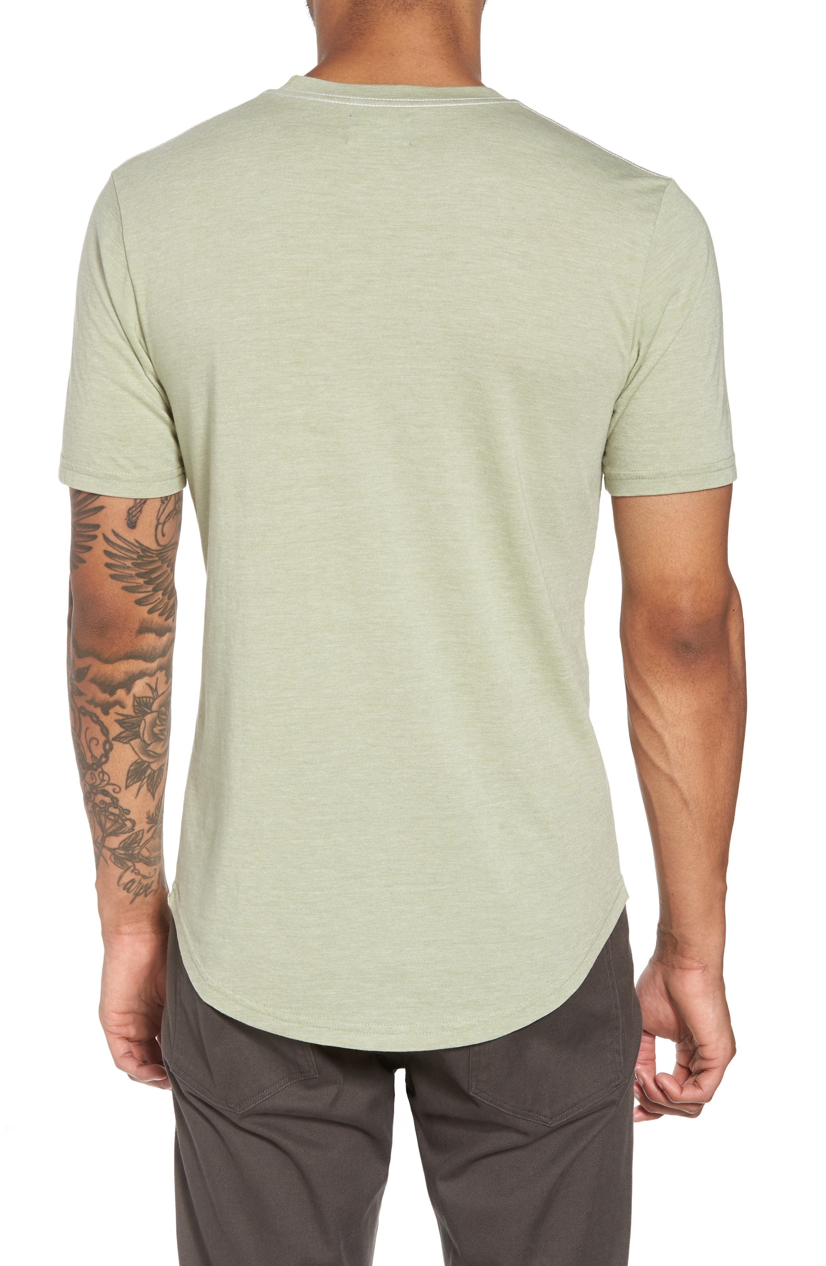 Scallop Triblend Crewneck T-Shirt,                             Alternate thumbnail 28, color,