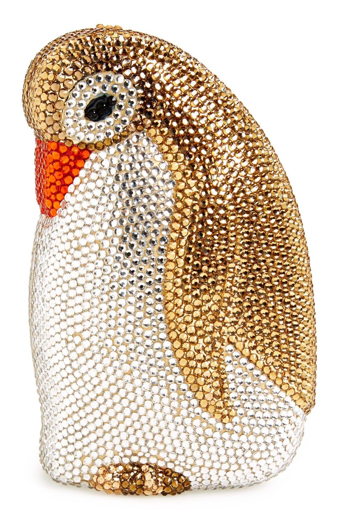 ZZDNU NATASHA COUTURE,                             Natasha Couture 'Penny The Penguin' Crystal Clutch,                             Main thumbnail 1, color,                             230