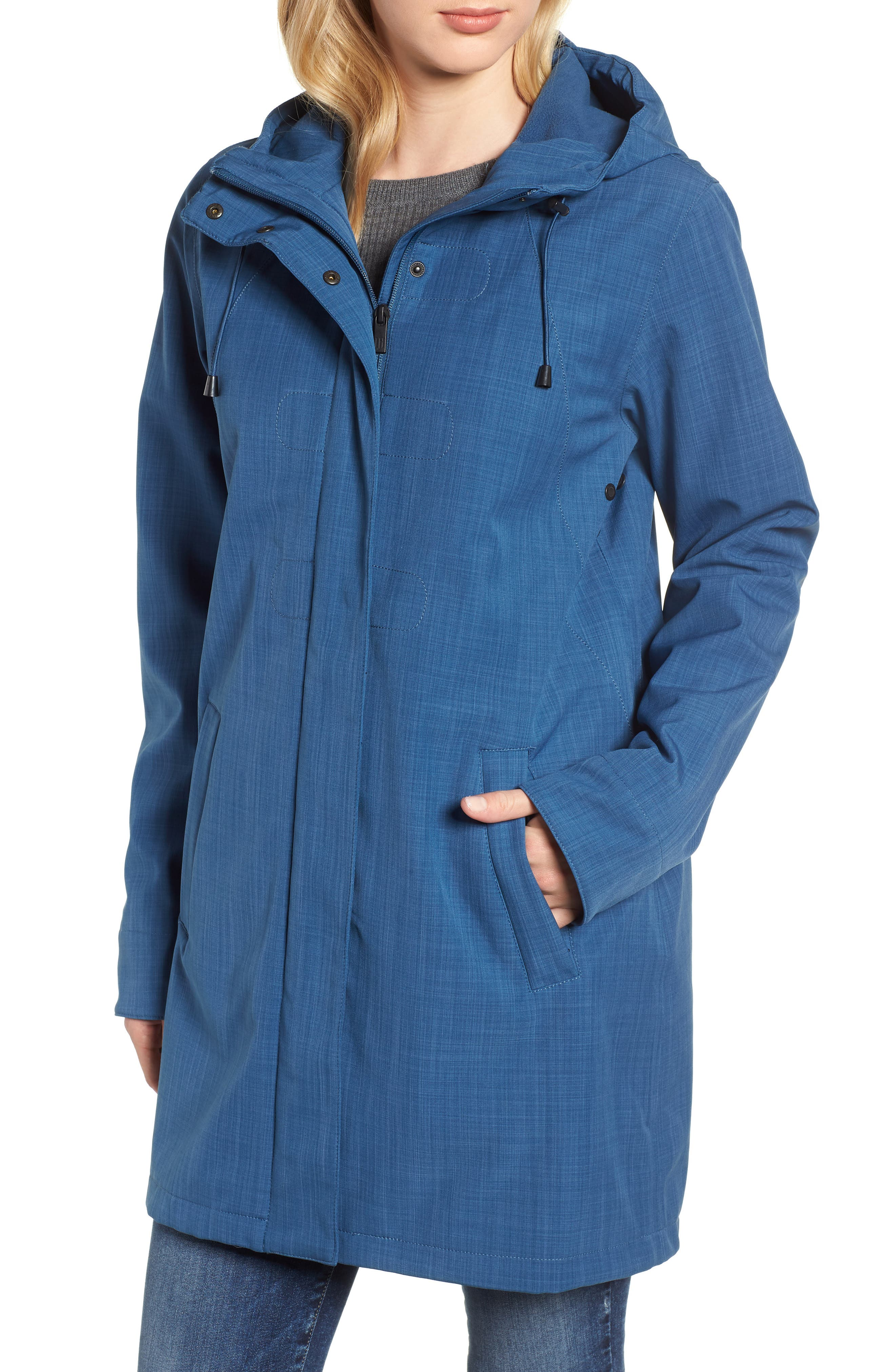 Hooded Raincoat,                             Alternate thumbnail 4, color,                             400