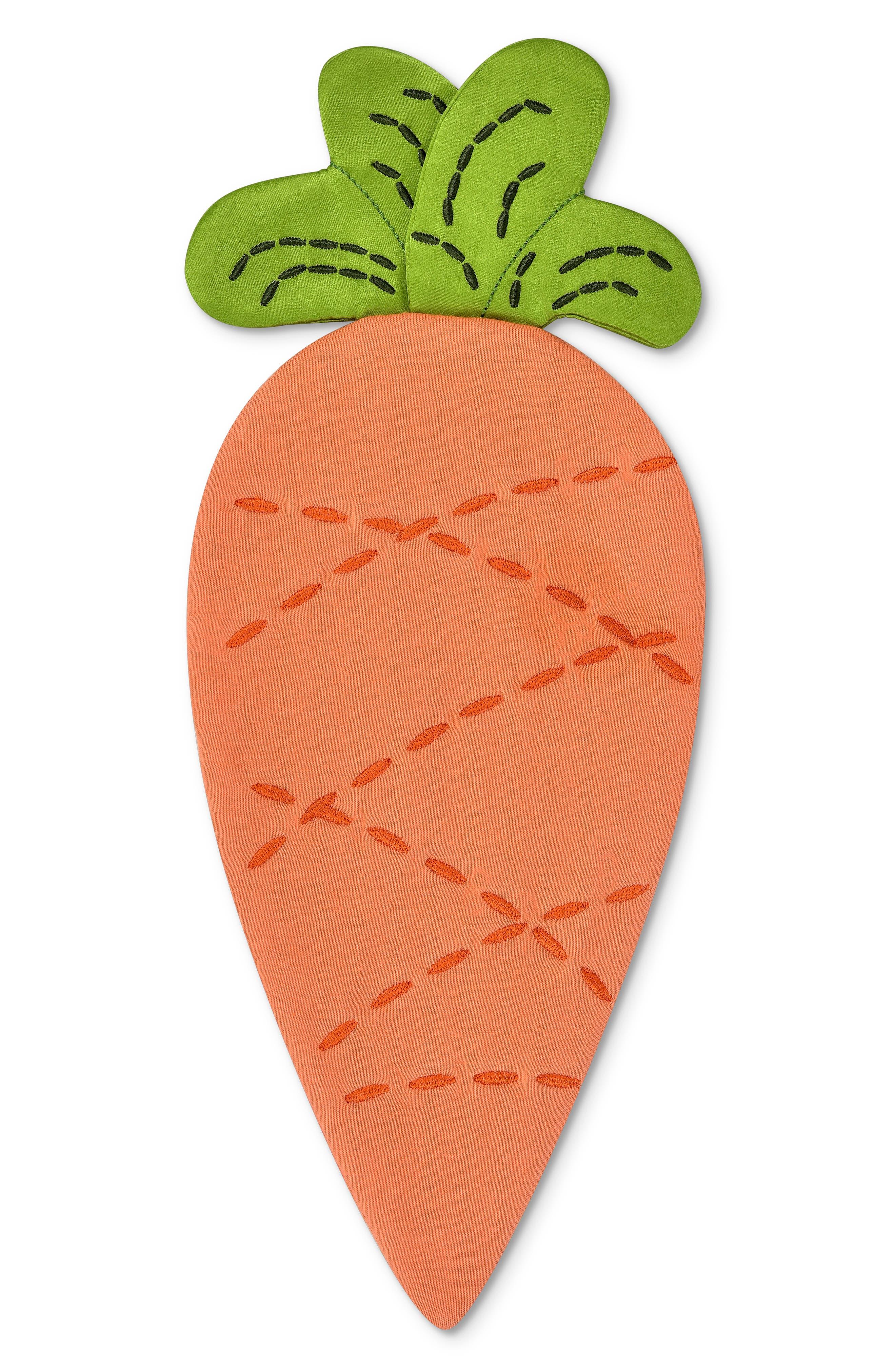 Carrot Crinkle Blankie, Main, color, ORANGE