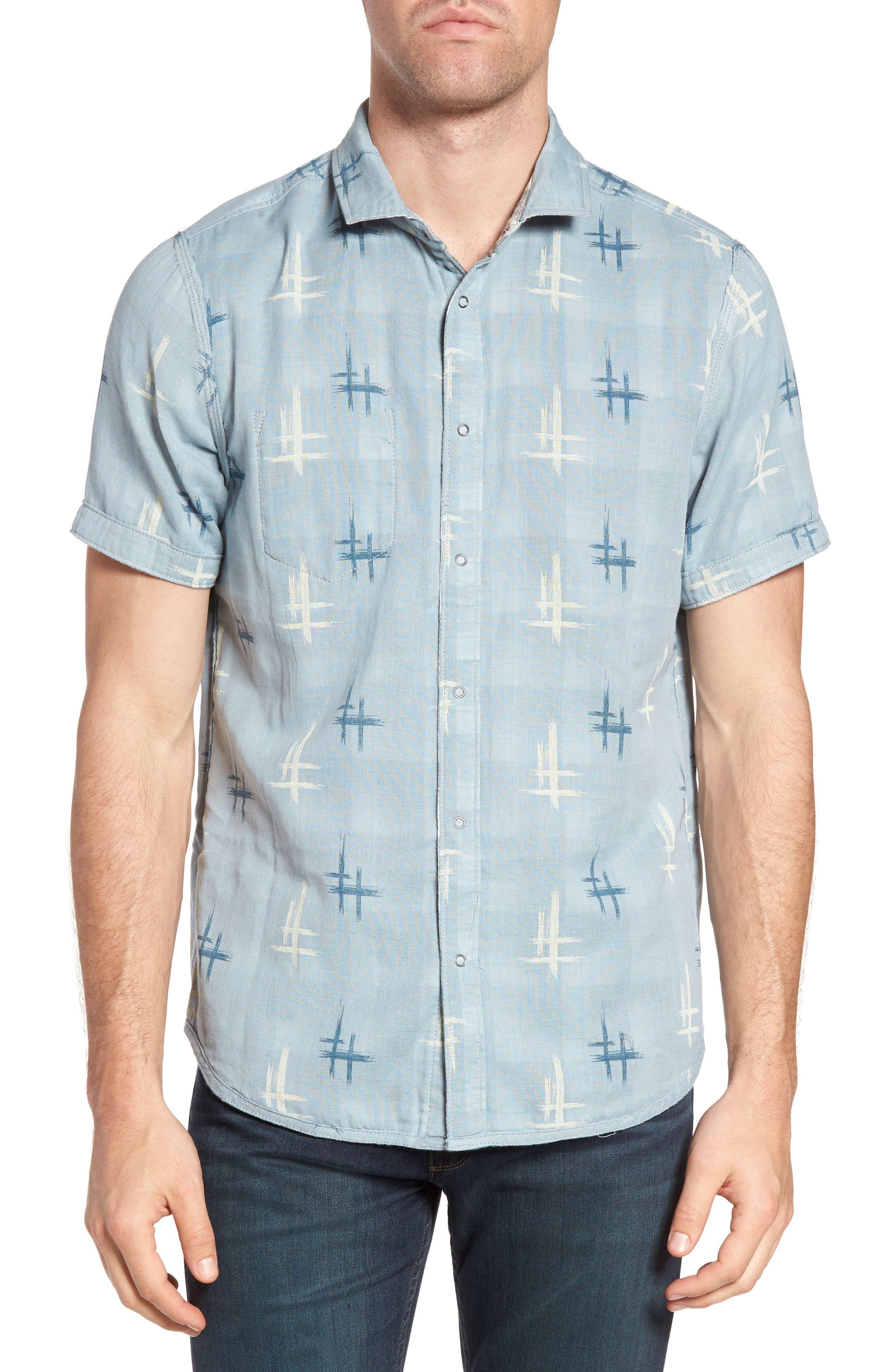 Clark Regular Fit Reversible Plaid Sport Shirt,                             Alternate thumbnail 4, color,                             406