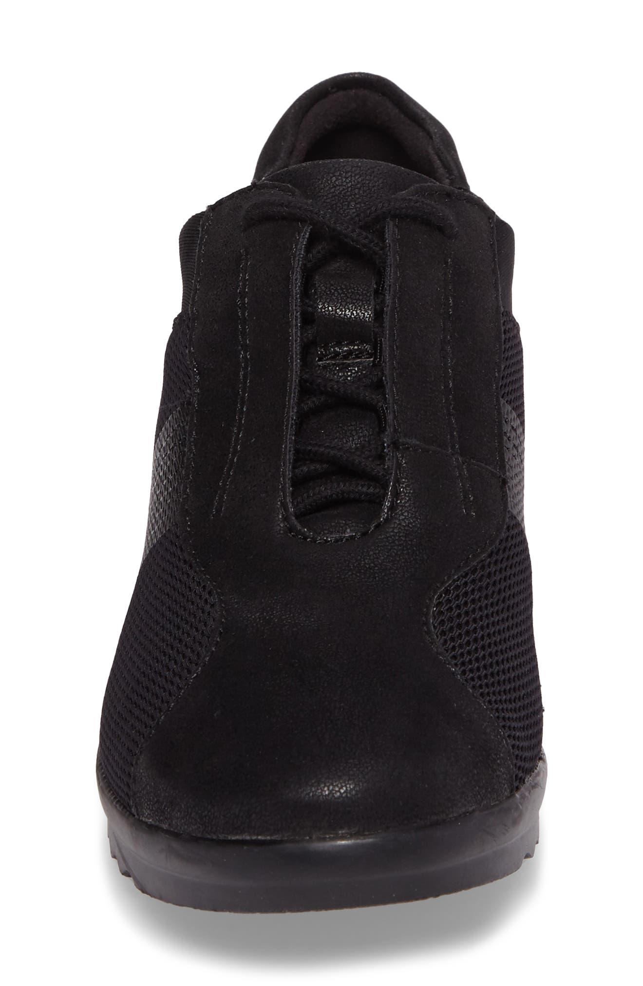 Caddell Fly Sneaker,                             Alternate thumbnail 4, color,                             BLACK FABRIC
