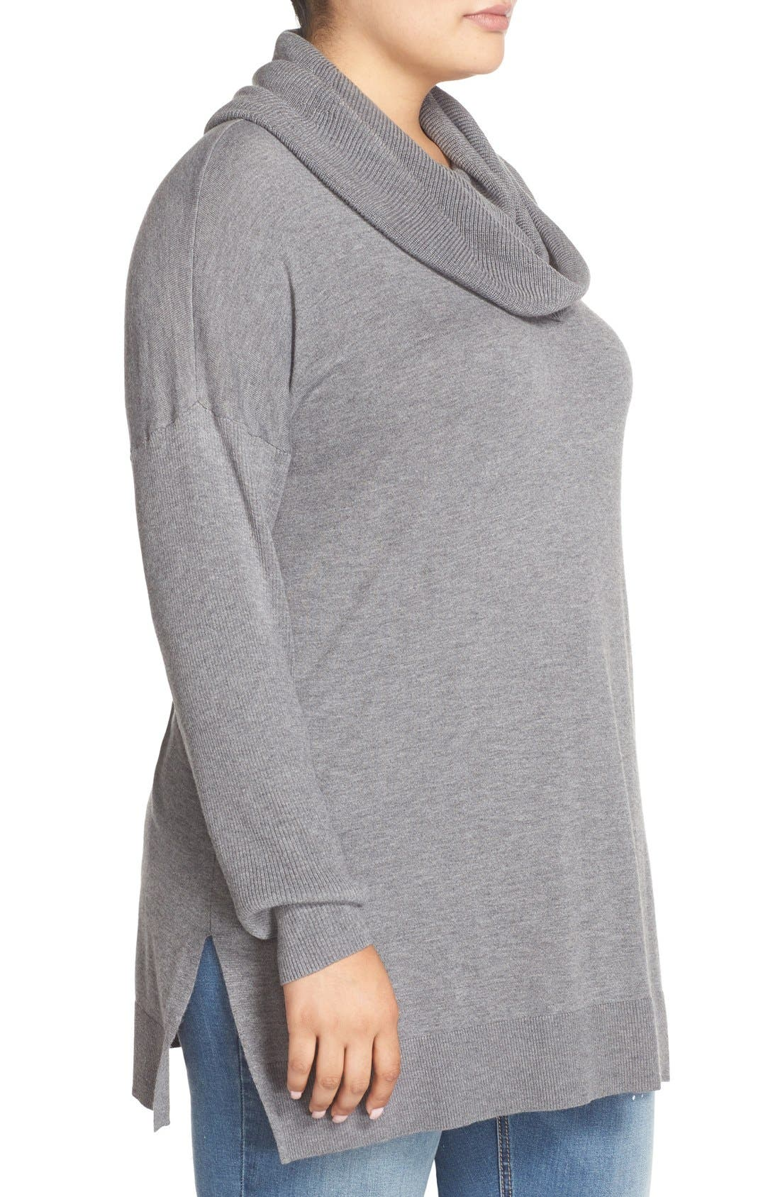Cowl Neck Tunic Sweater,                             Alternate thumbnail 21, color,