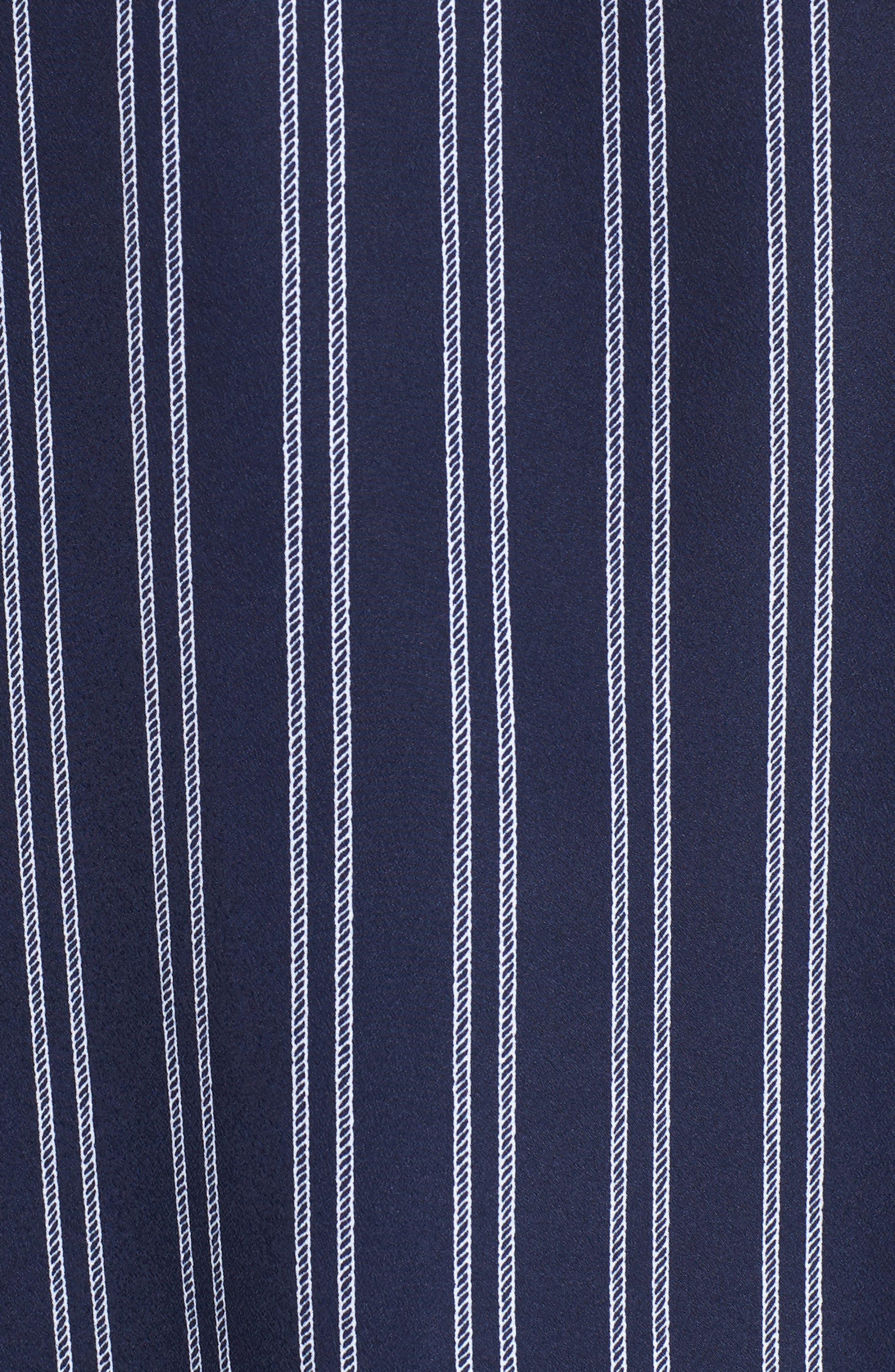 MICHAEL Michael Kors Bengal Striped Shirt,                             Alternate thumbnail 5, color,                             TRUE NAVY