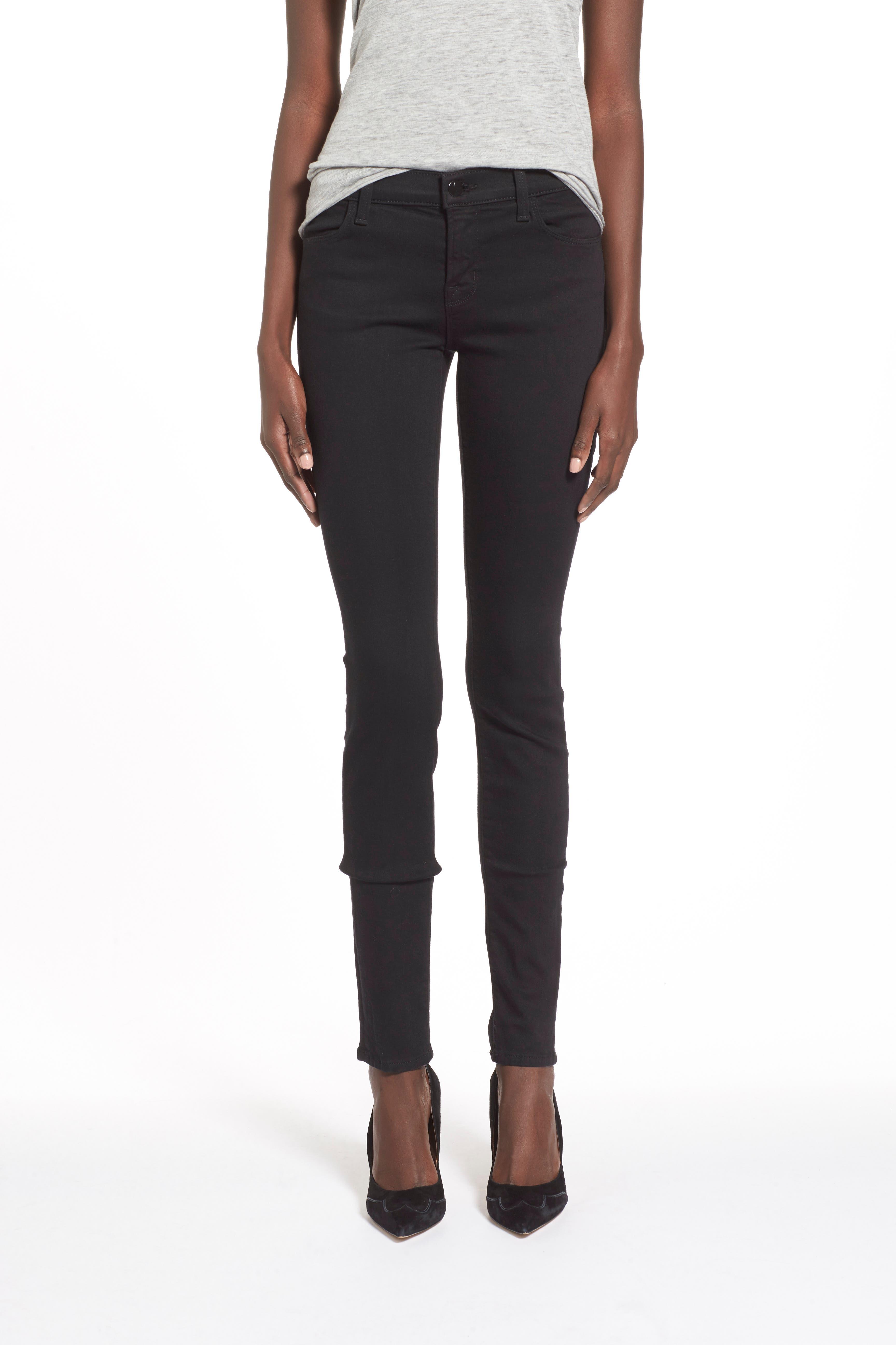 J BRAND,                             Super Skinny Jeans,                             Alternate thumbnail 8, color,                             SERIOUSLY BLACK