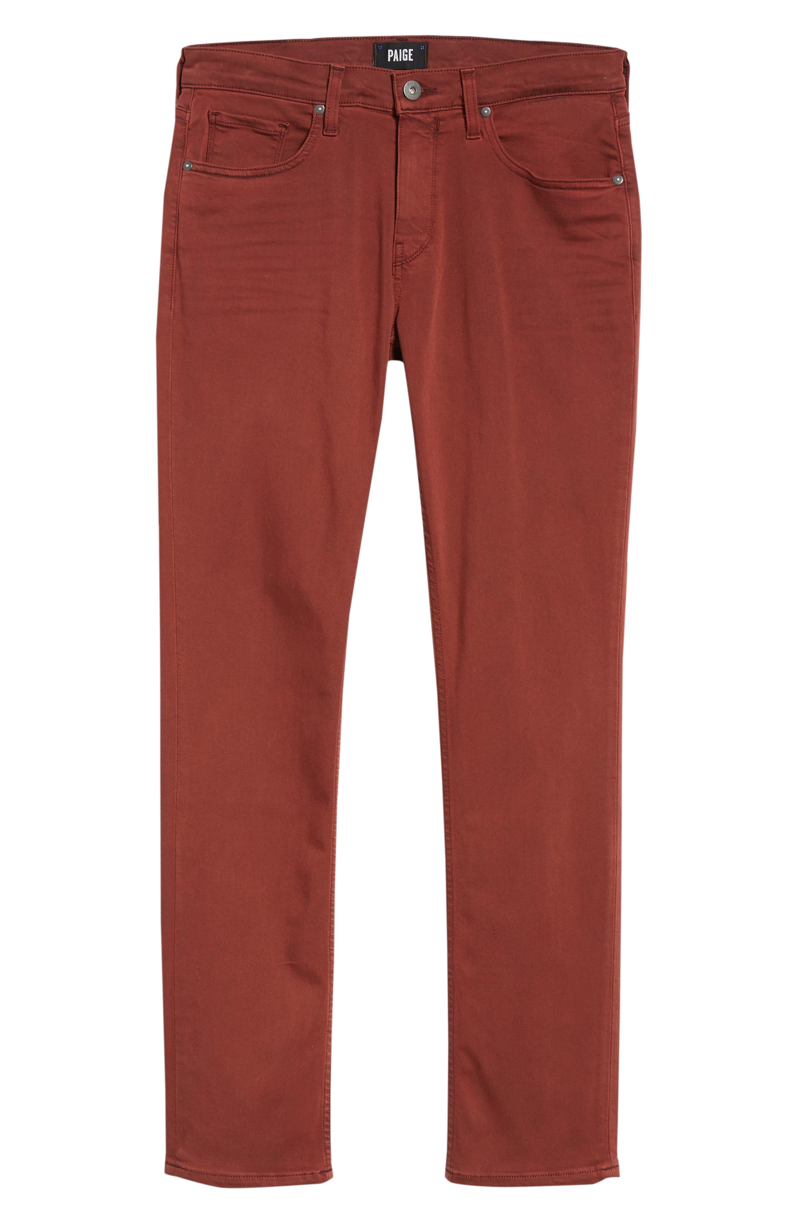 Transcend - Federal Slim Straight Leg Jeans,                             Alternate thumbnail 6, color,                             VINTAGE PERSIMMON