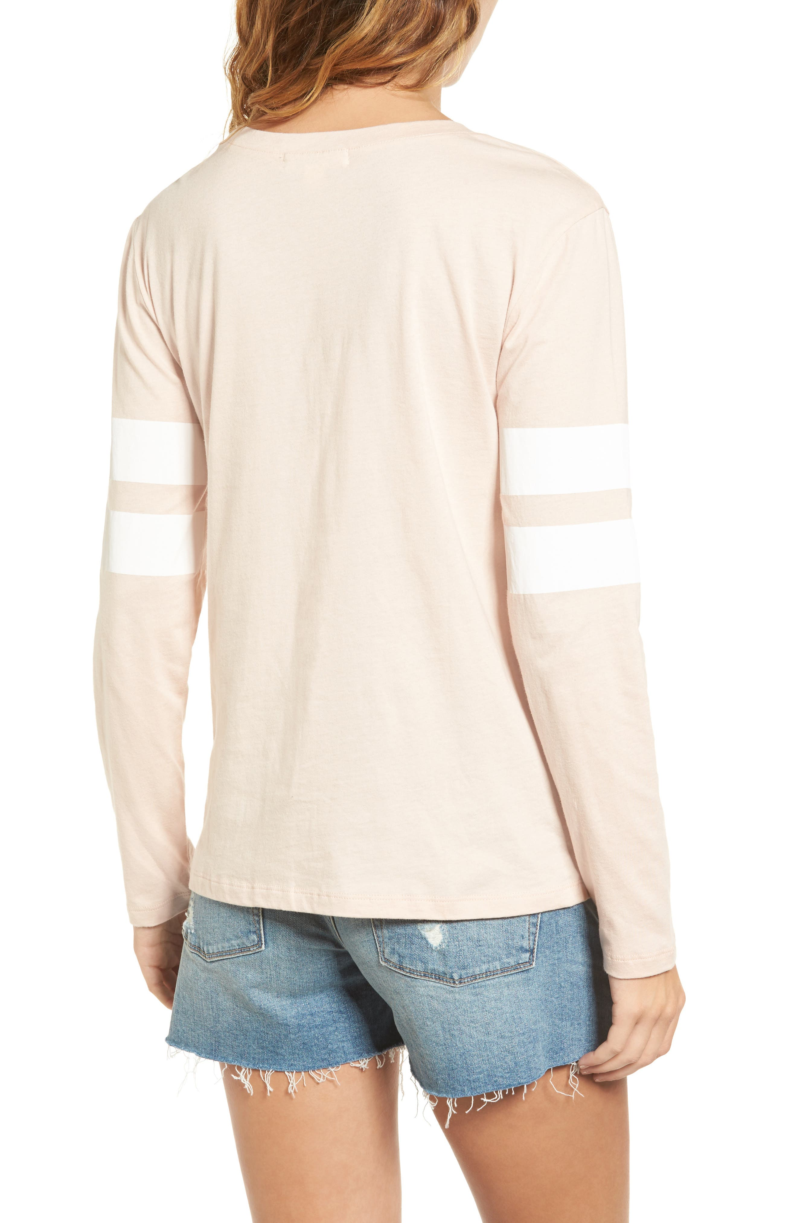 Varsity Stripe Cotton Tee,                             Alternate thumbnail 42, color,