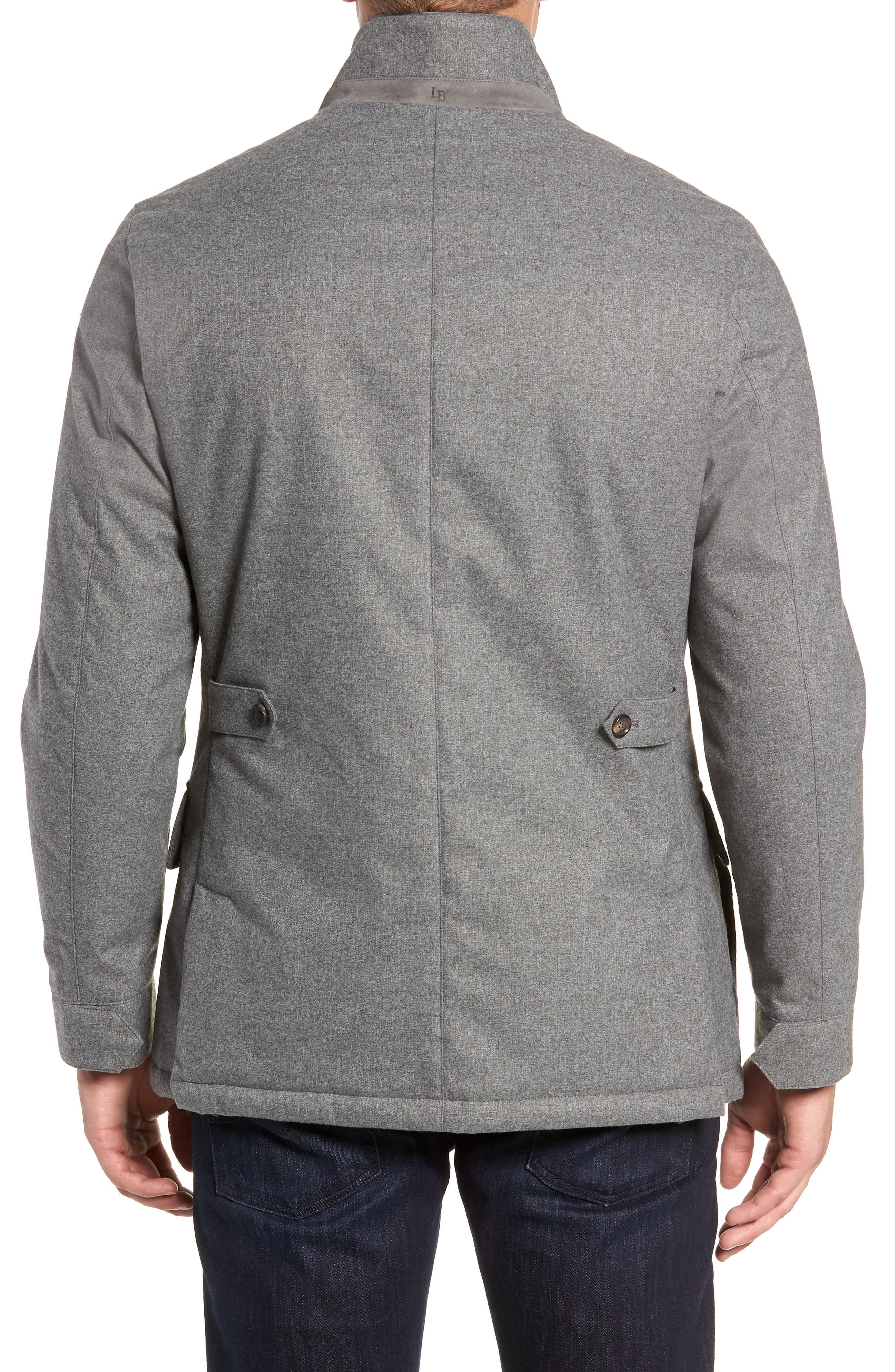 Stretch Flannel Jacket,                             Alternate thumbnail 2, color,                             GREY