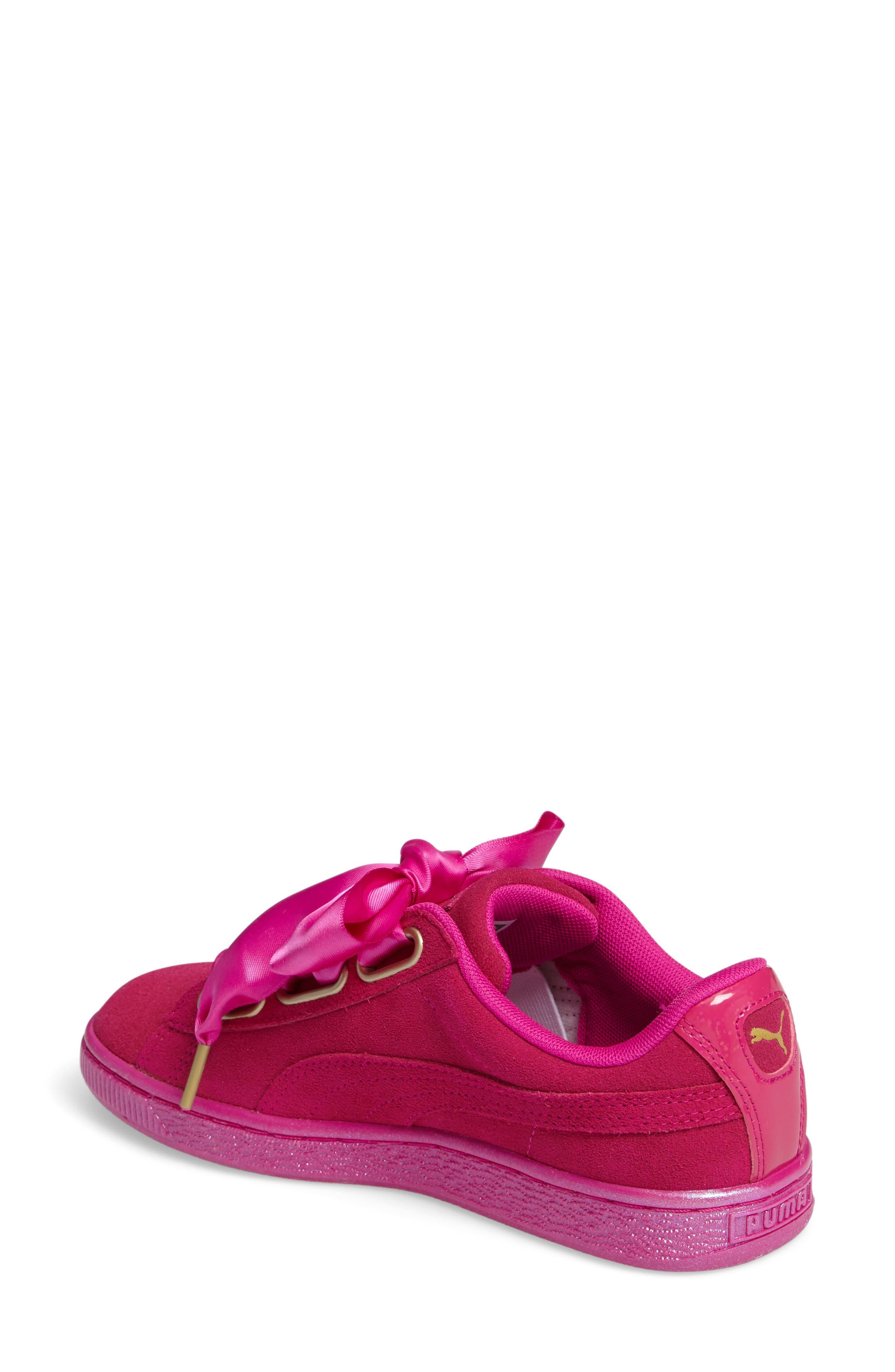 Suede - Heart Sneaker,                             Alternate thumbnail 15, color,