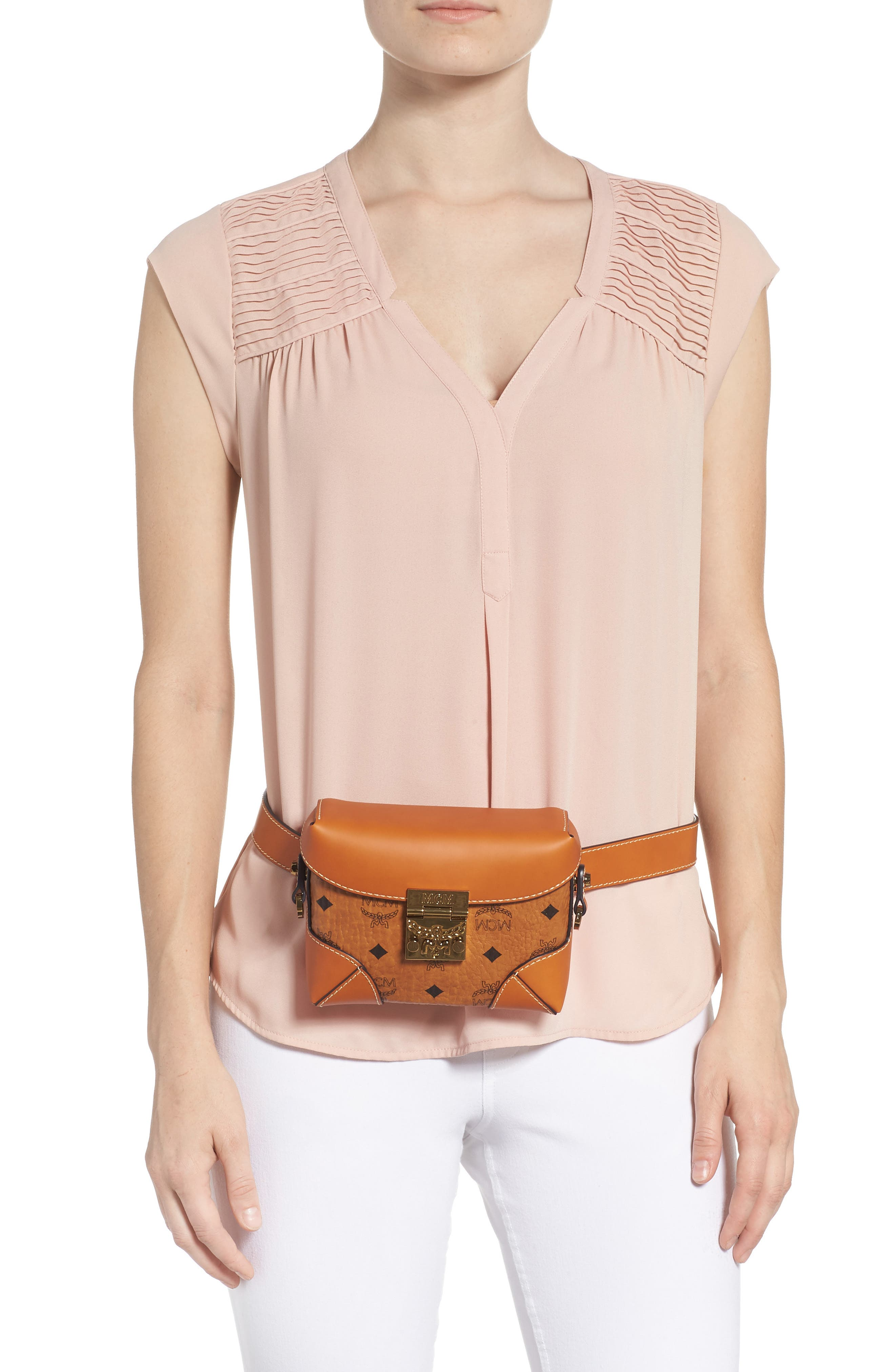 Small Berlin Canvas & Leather Belt Bag,                             Alternate thumbnail 2, color,                             200