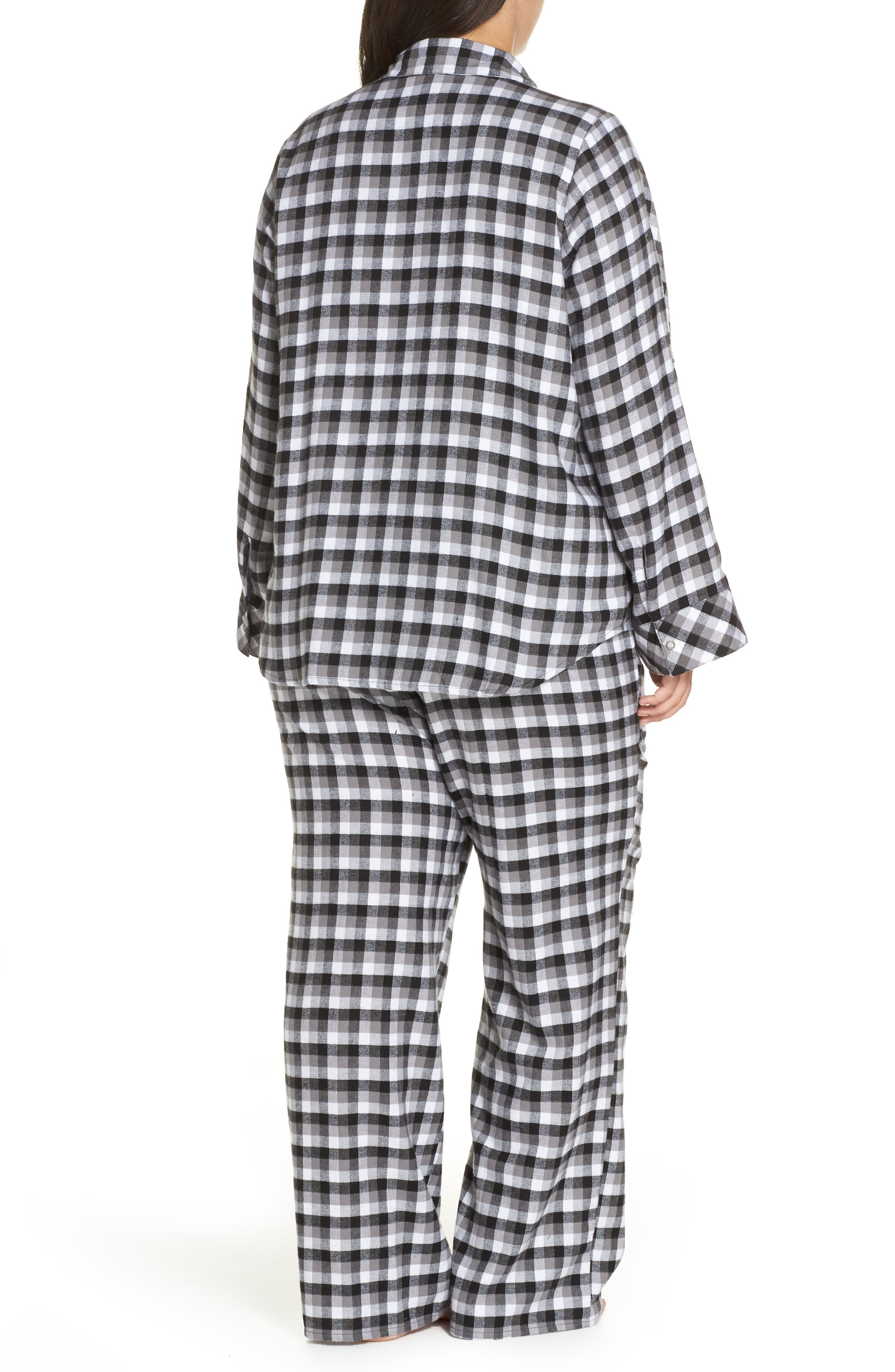 Flannel Pajamas,                             Alternate thumbnail 2, color,                             002