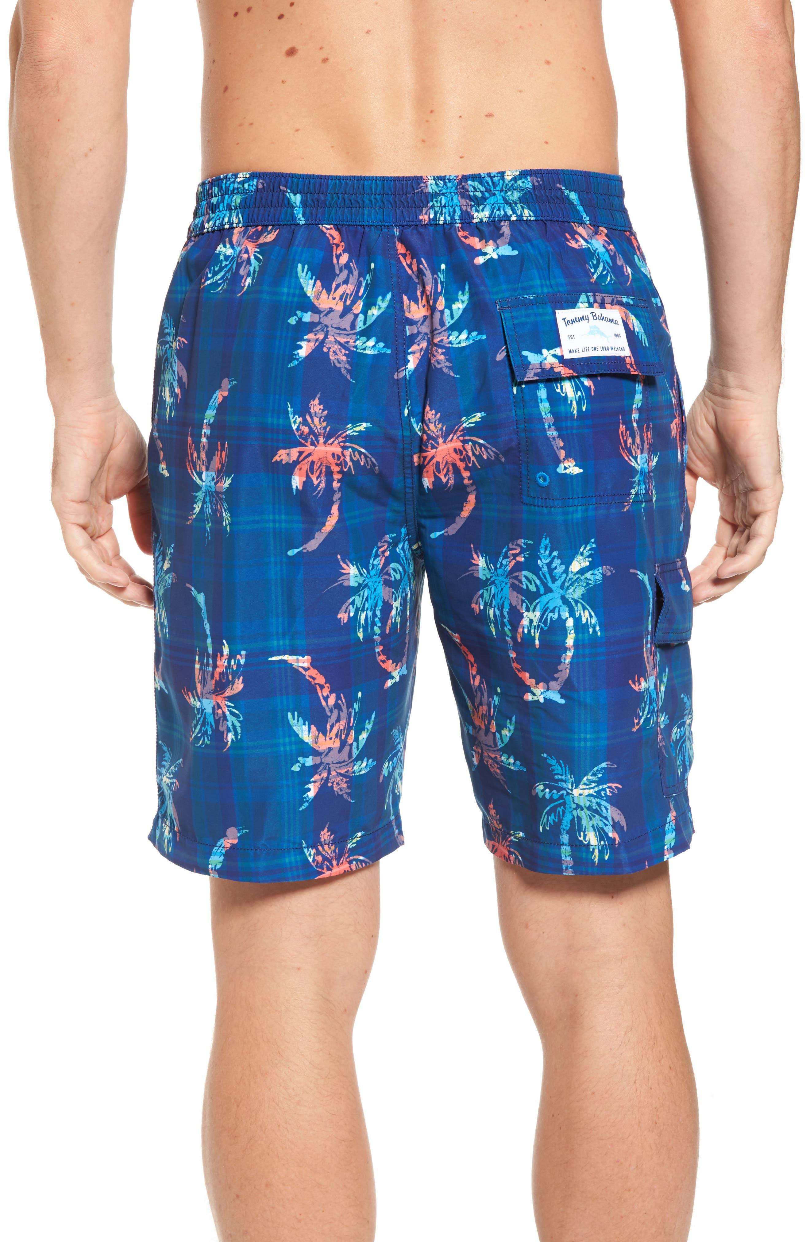 Baja Palm Illusion Swim Trunks,                             Alternate thumbnail 2, color,