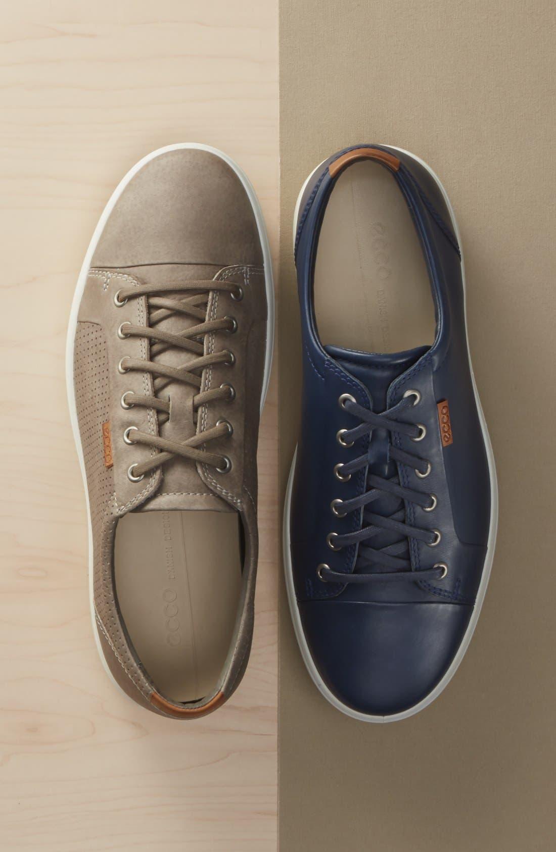 'Soft 7' Sneaker,                             Alternate thumbnail 7, color,                             NAVY LEATHER