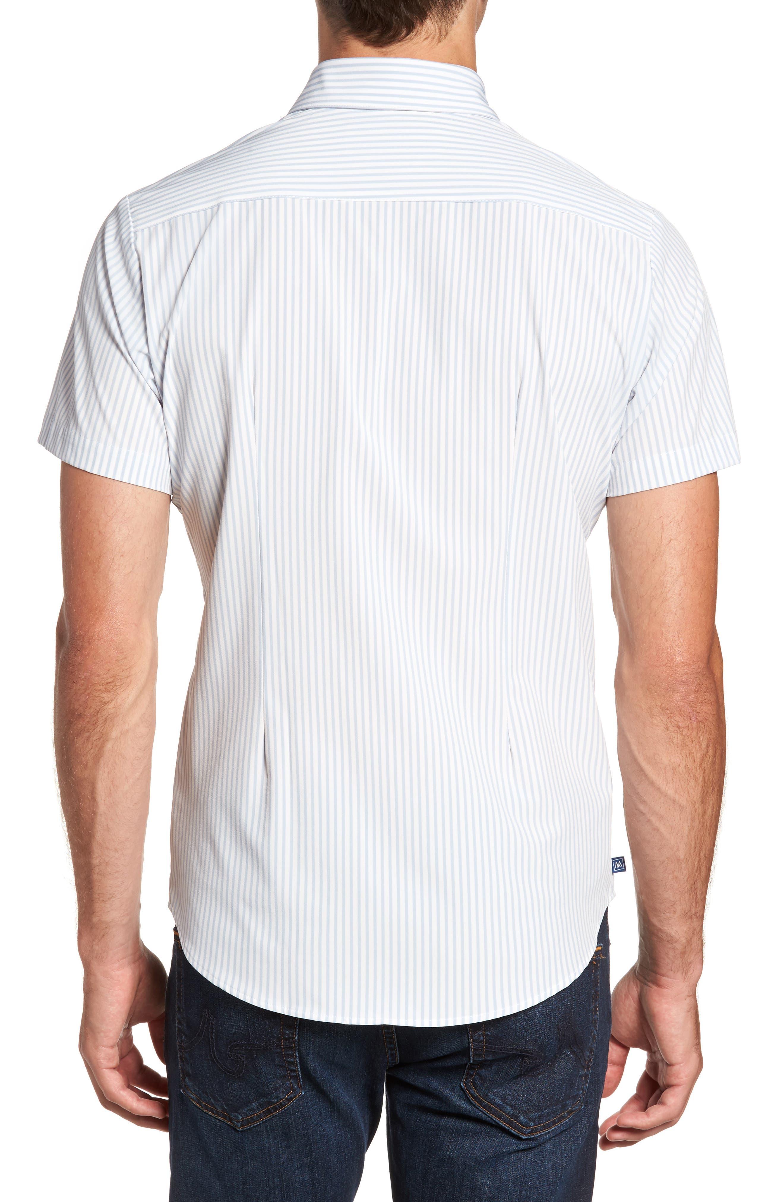 St. Elias Stripe Sport Shirt,                             Alternate thumbnail 2, color,                             100