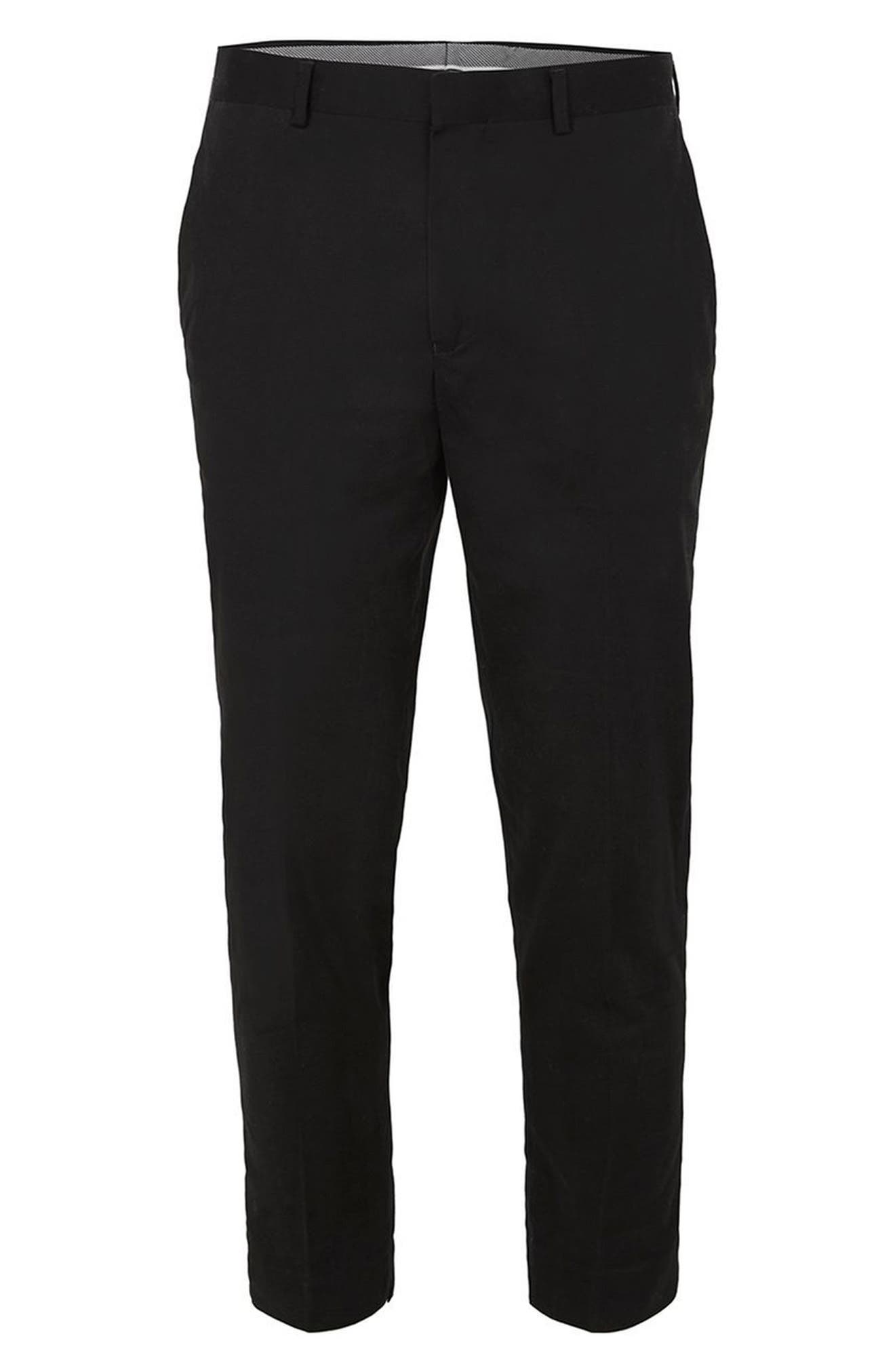Twill Tapered Trousers,                             Alternate thumbnail 7, color,