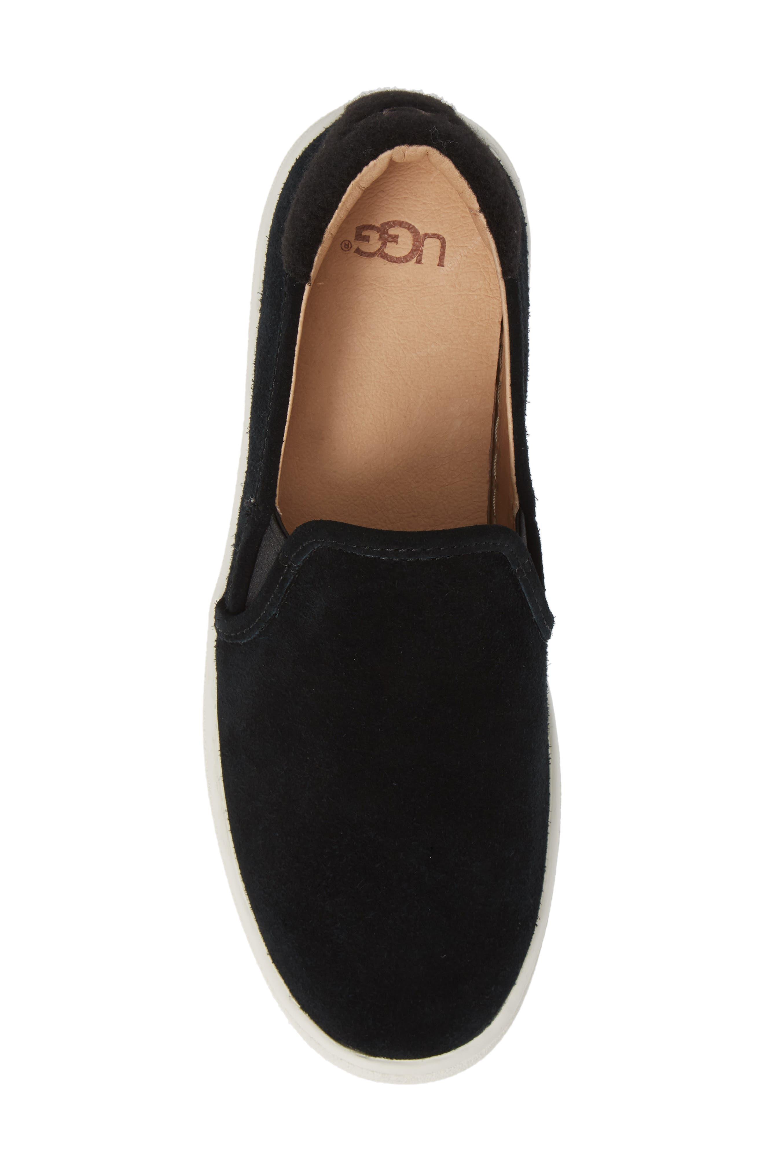 Cas Slip-On Sneaker,                             Alternate thumbnail 5, color,                             BLACK