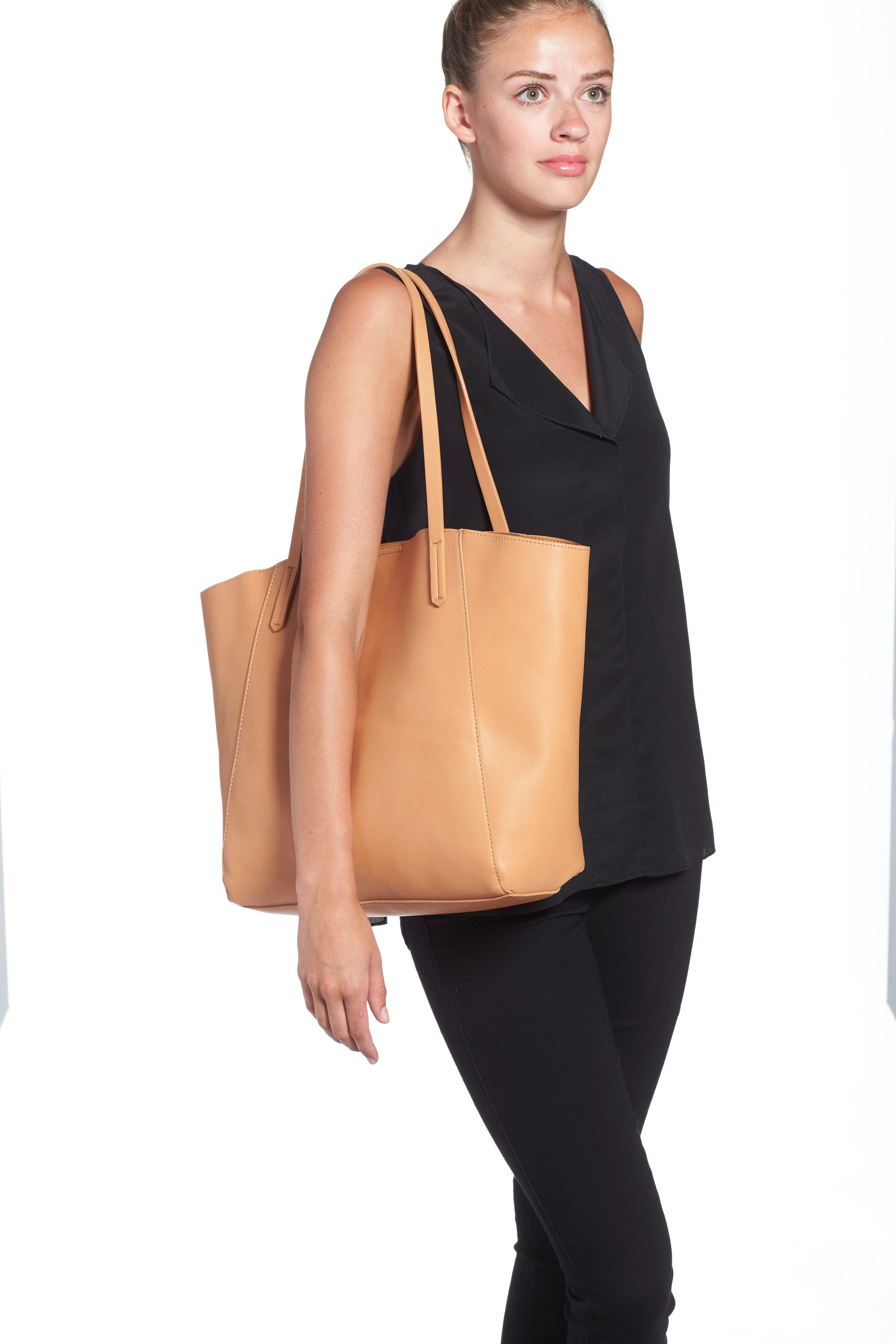 Colorblock Faux Leather Tote,                             Alternate thumbnail 10, color,