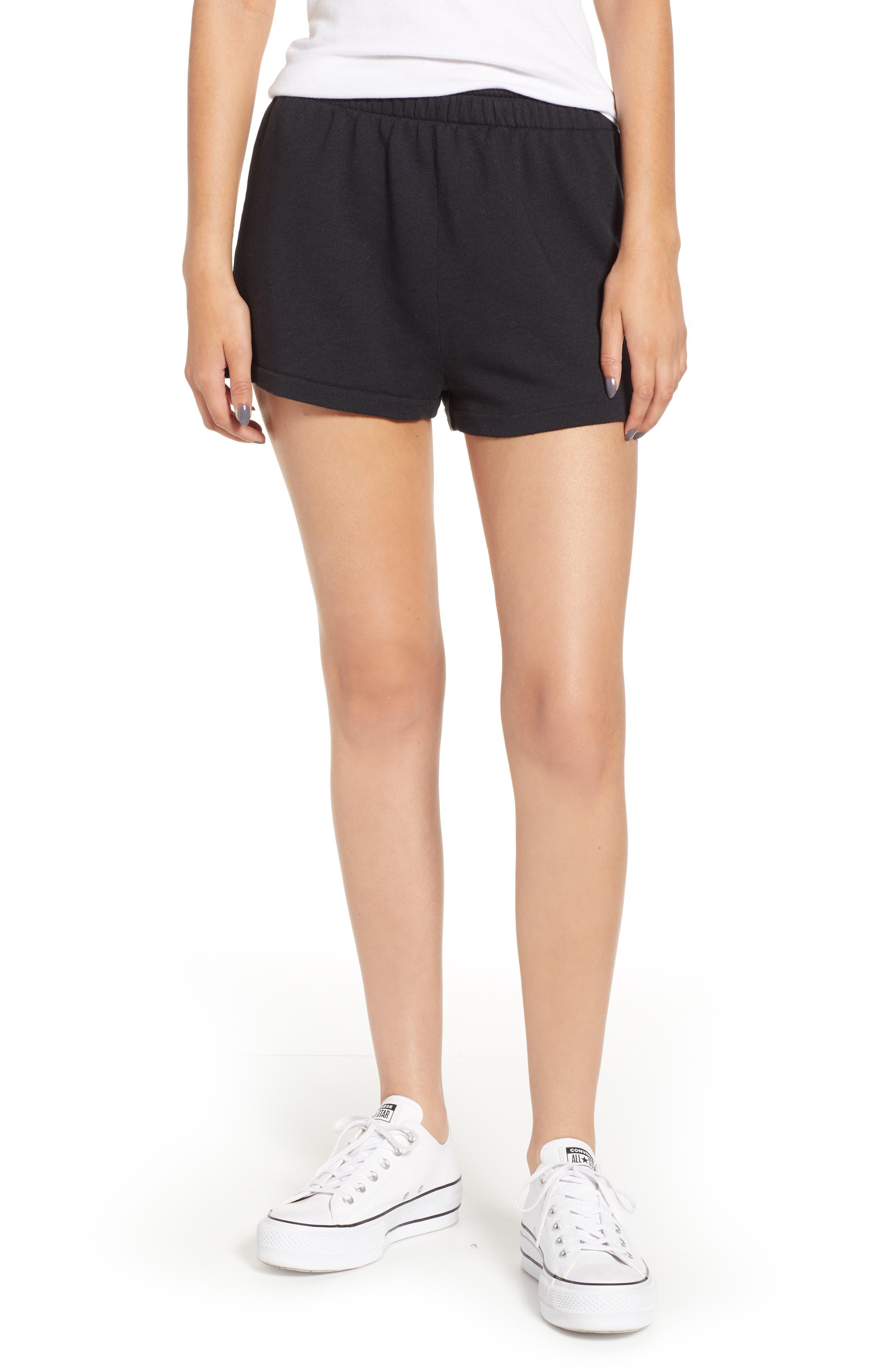 Golden Shorts,                             Main thumbnail 1, color,                             JET BLACK