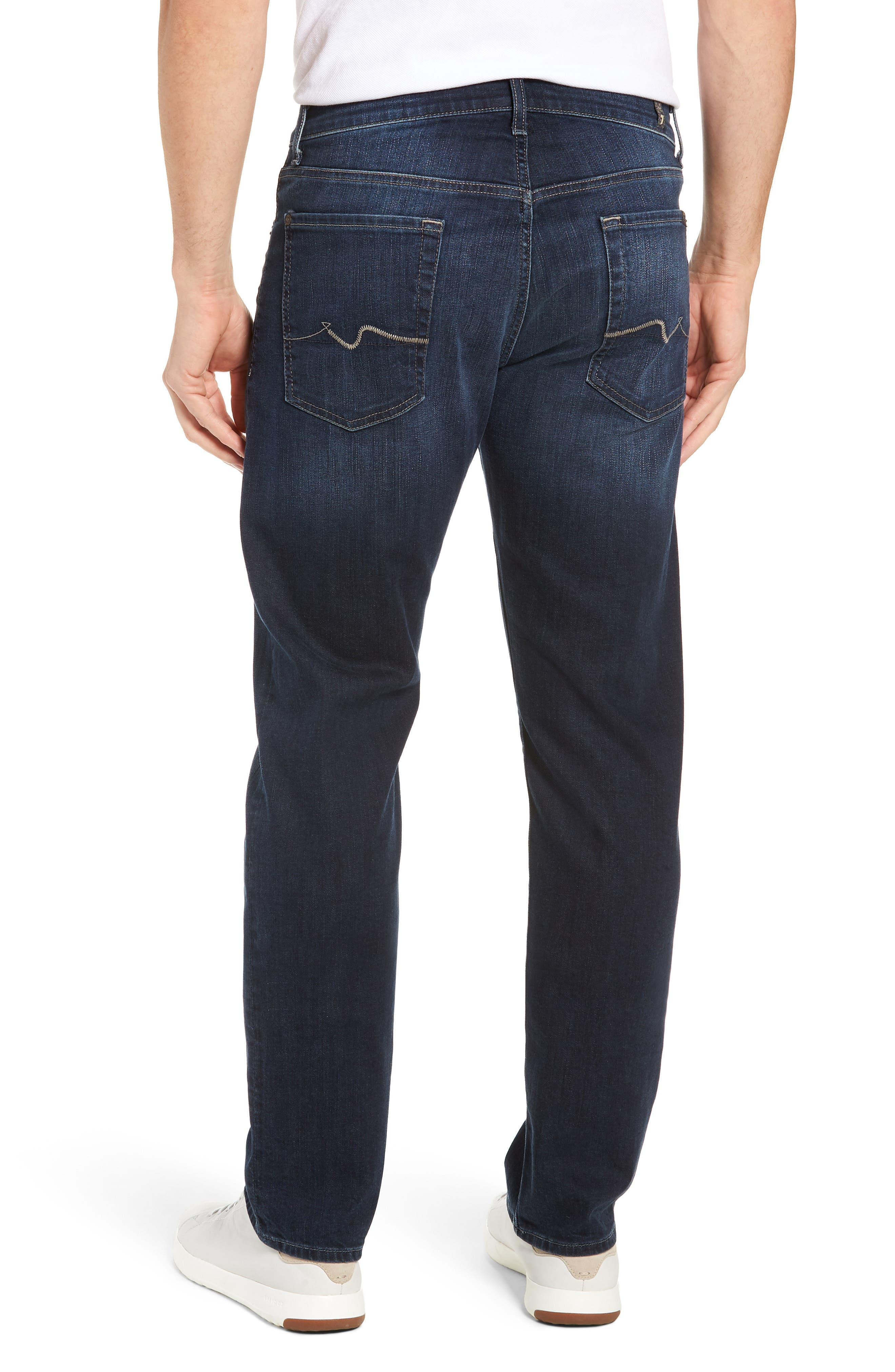 Standard Fit Straight Leg Jeans,                             Alternate thumbnail 2, color,                             JUSTICE