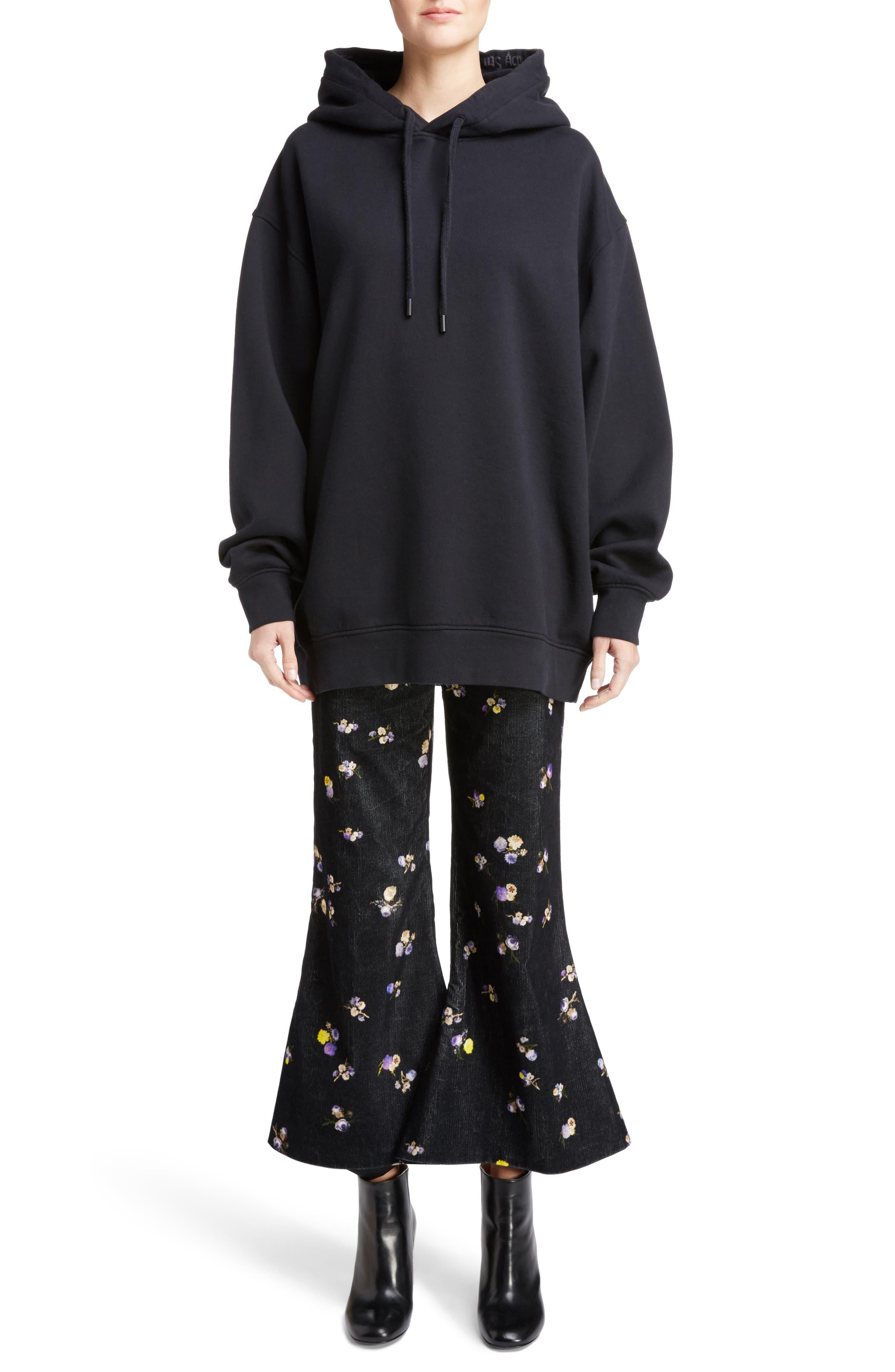 Yala Oversize Hoodie,                         Main,                         color, BLACK