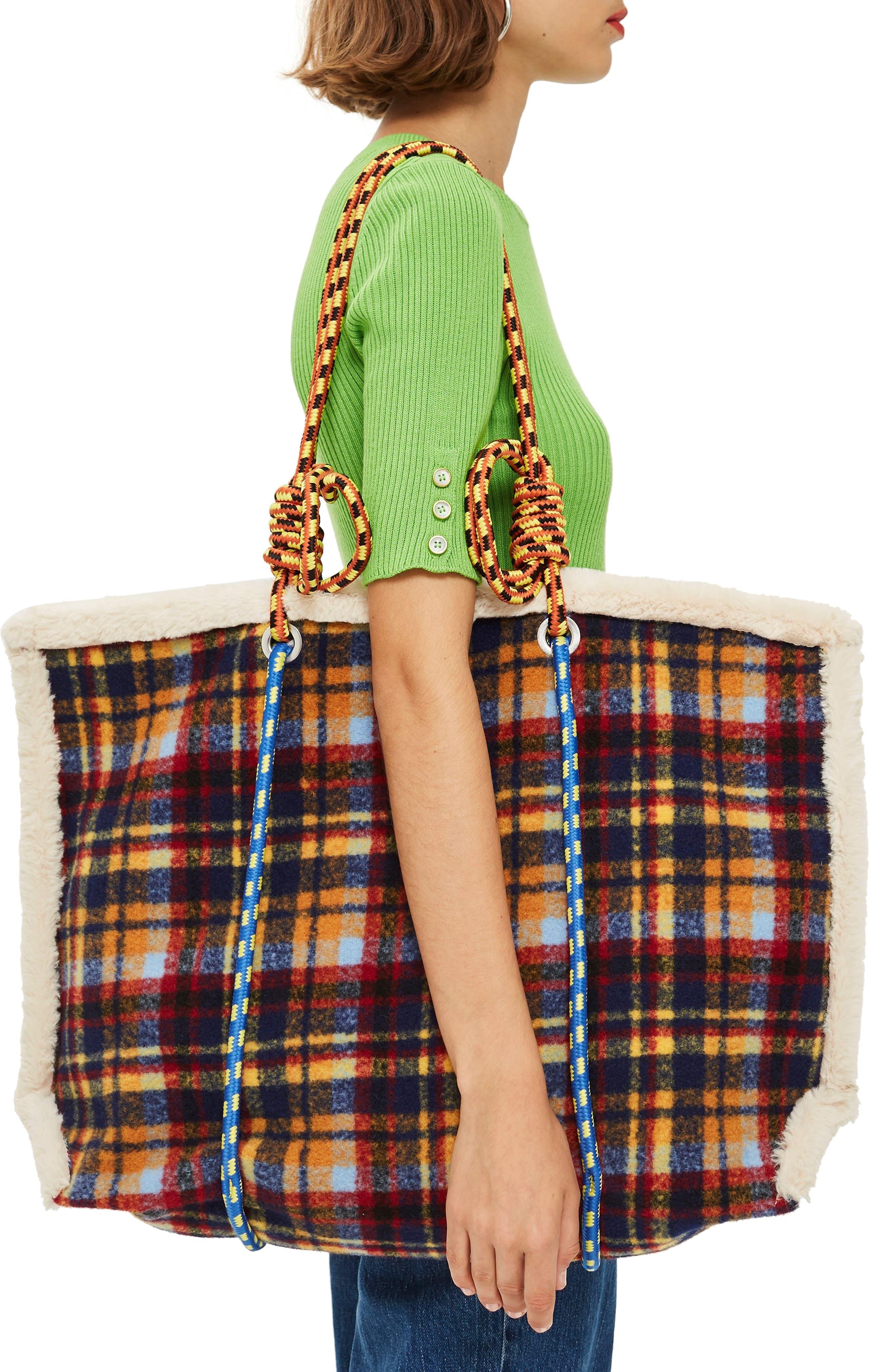 Blanket Rope Tote Bag,                             Alternate thumbnail 2, color,                             BLUE MULTI