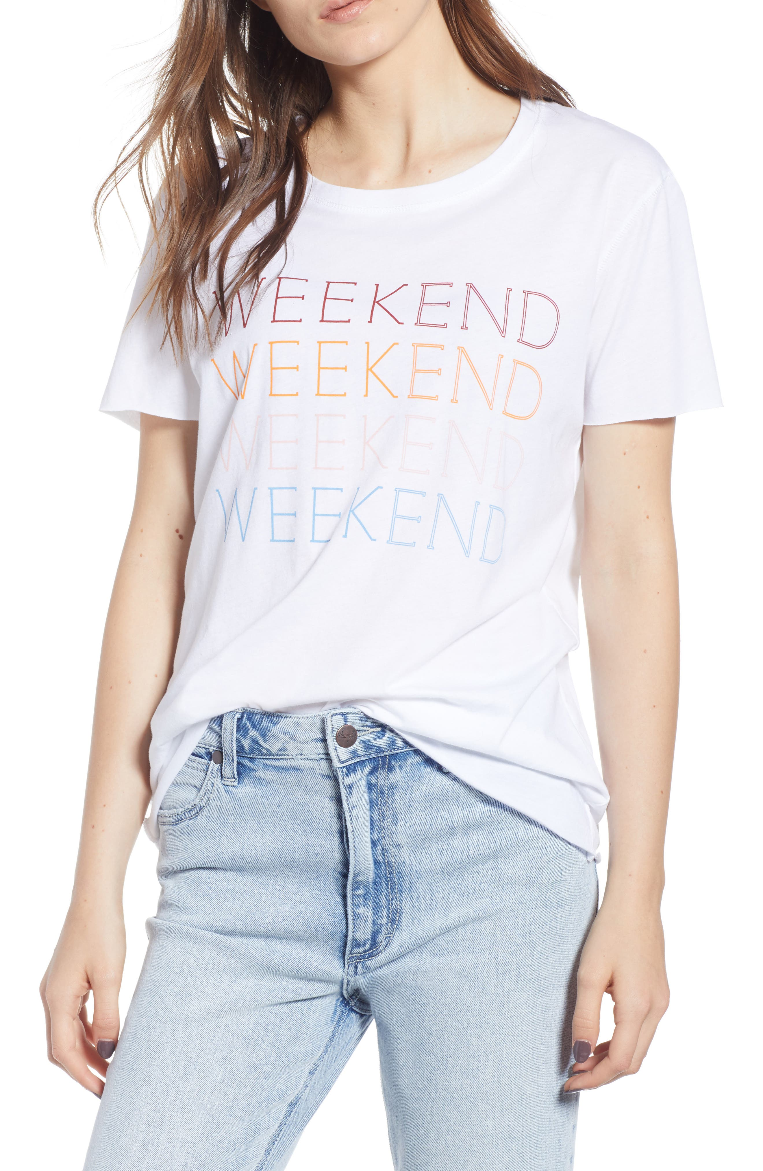 Weekend Graphic Tee,                             Main thumbnail 1, color,                             100