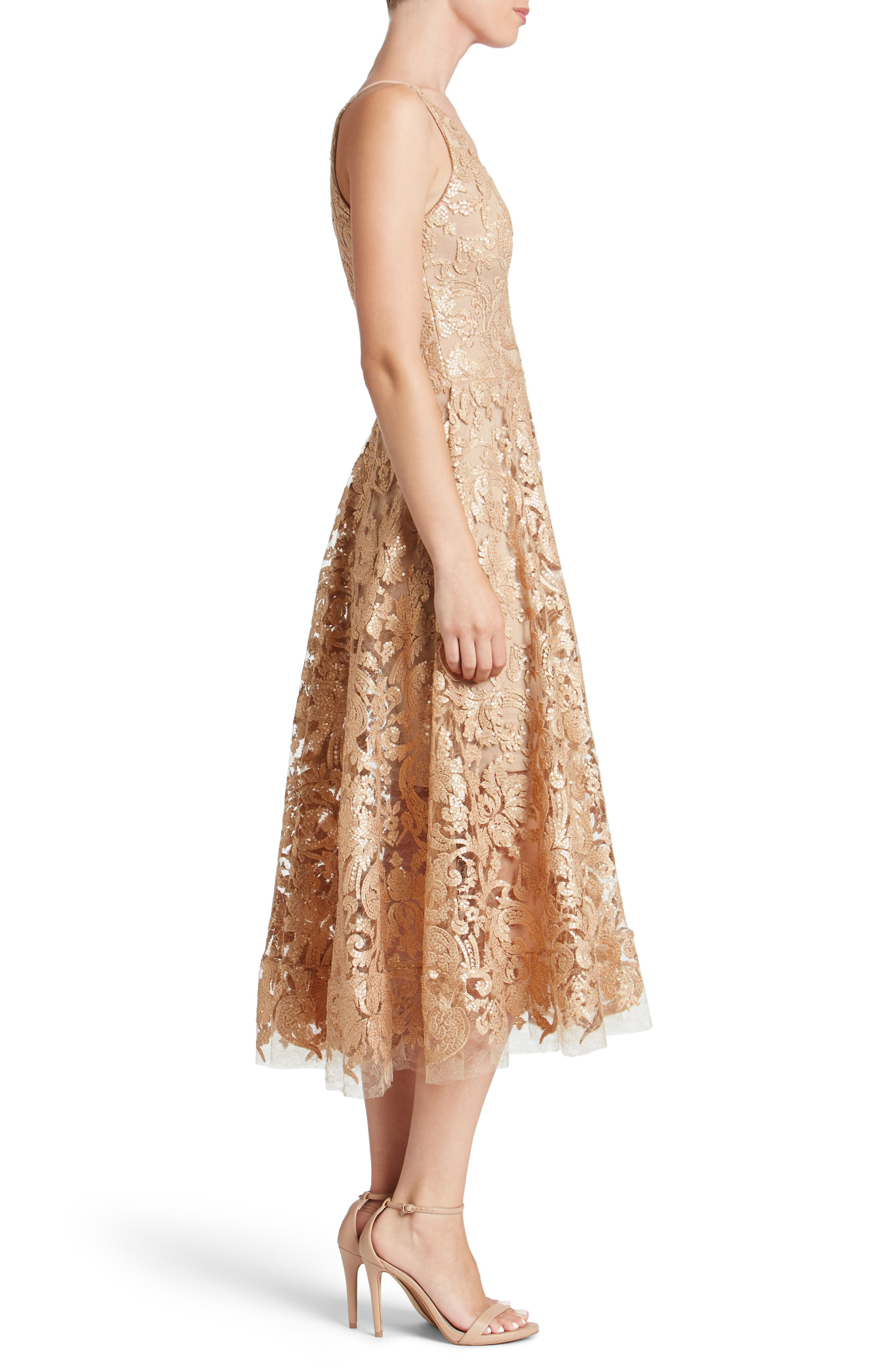 Blair Embellished Fit & Flare Dress,                             Alternate thumbnail 21, color,