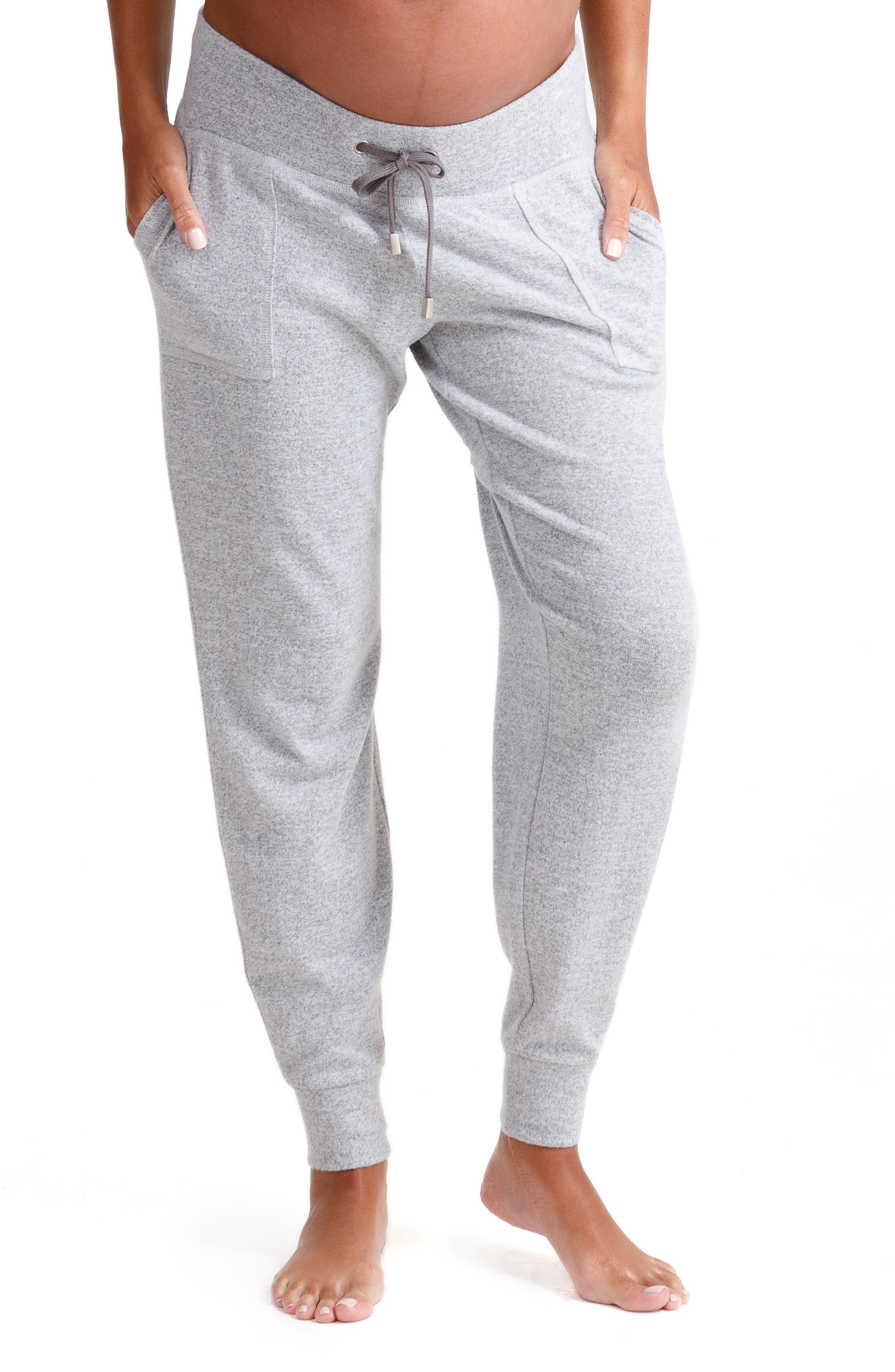 INGRID & ISABEL<SUP>®</SUP> Knit Active Maternity Jogger Pants, Main, color, LIGHT HEATHER GREY