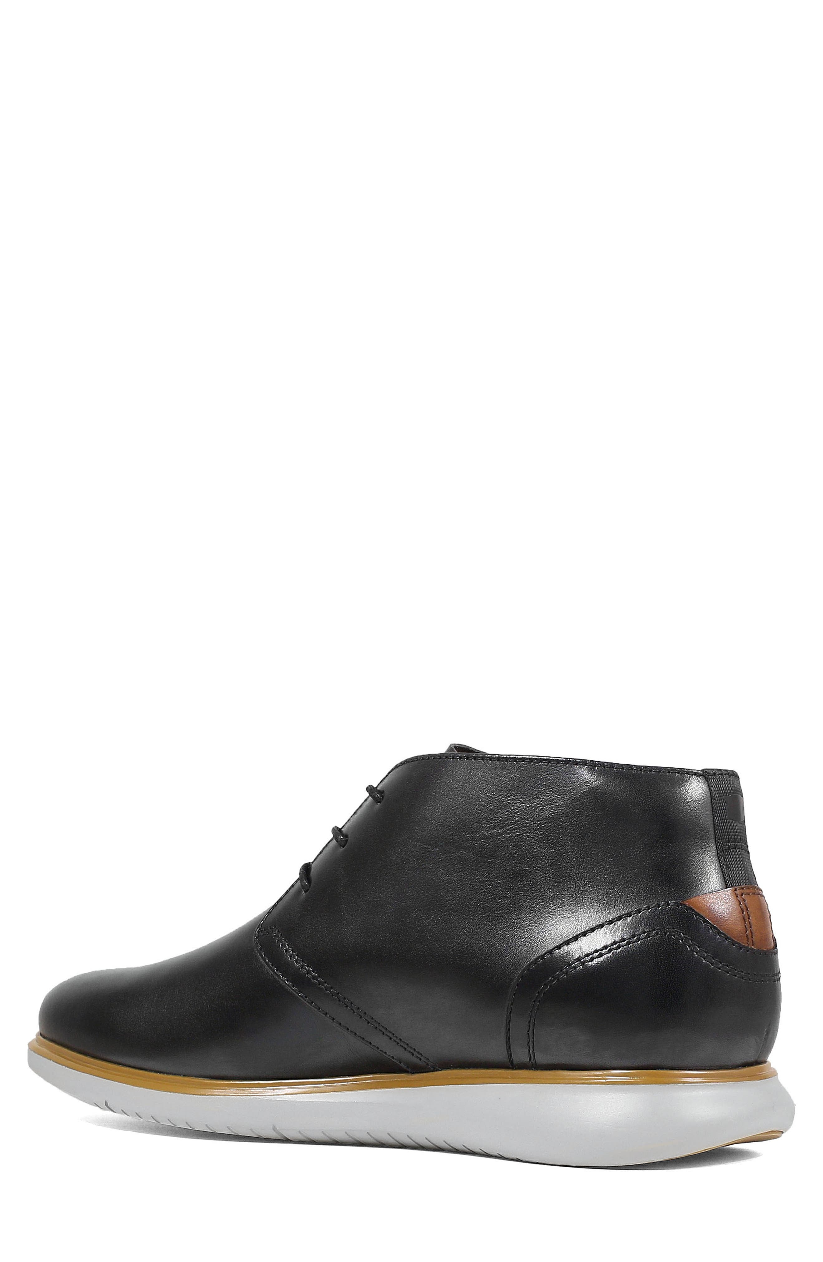 FLORSHEIM,                             Fuel Chukka Boot,                             Alternate thumbnail 2, color,                             BLACK LEATHER