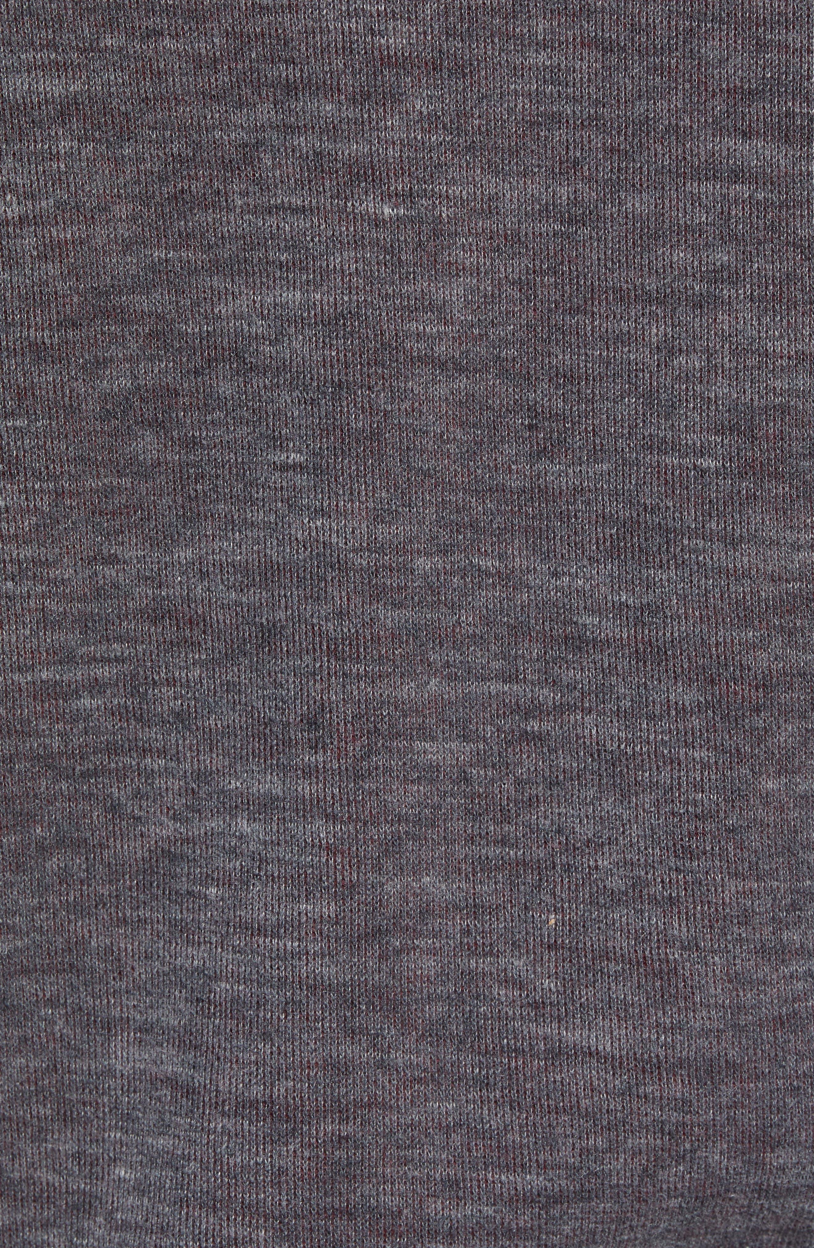 Flip Reversible Zip Hoodie,                             Alternate thumbnail 6, color,                             CHARCOAL HEATHER