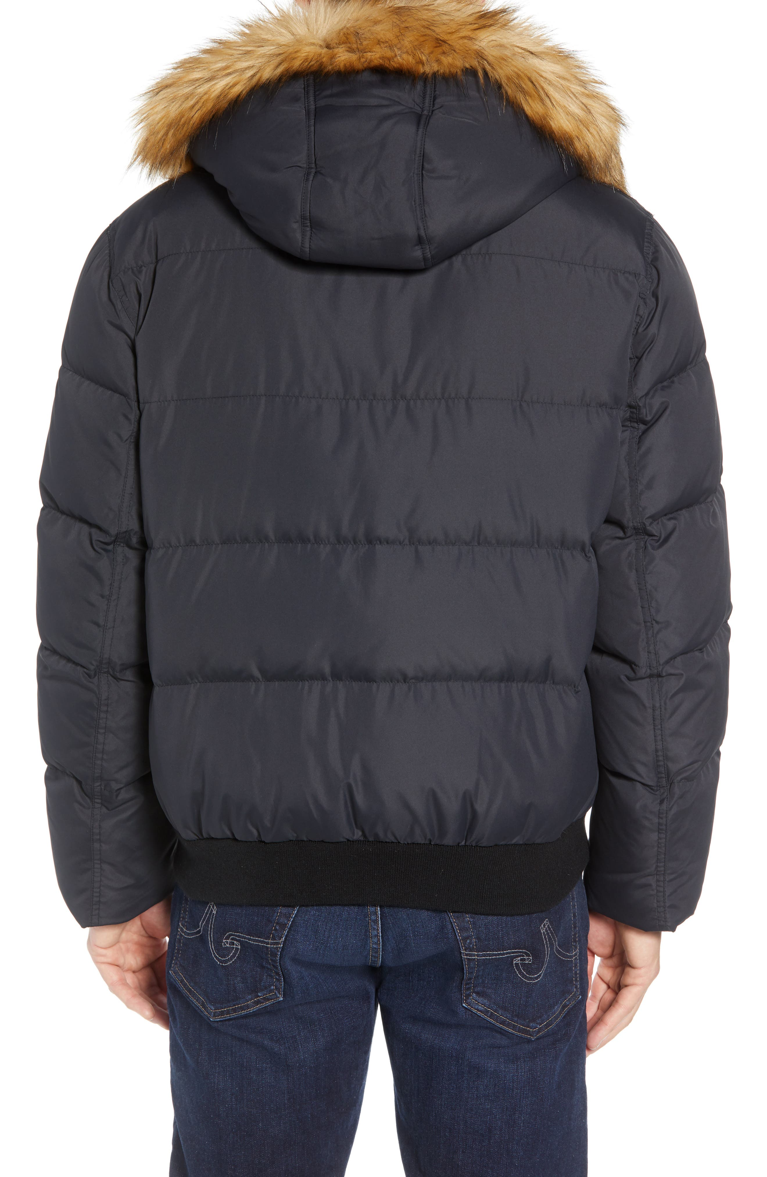 Clermont Insulated Bomber Jacket,                             Alternate thumbnail 3, color,                             BLACK