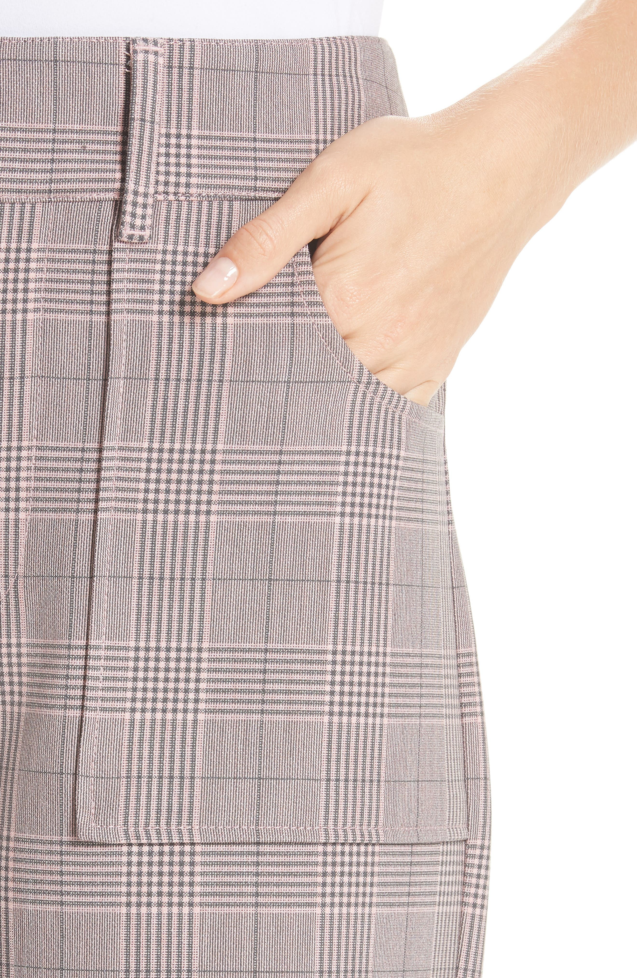 GANNI,                             Suiting Pants,                             Alternate thumbnail 4, color,                             SILVER PINK 499