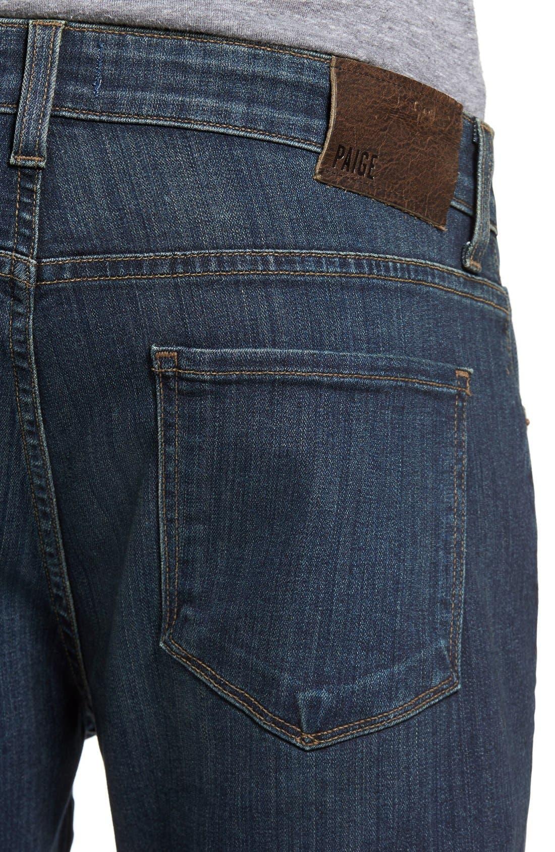 Transcend - Federal Slim Straight Leg Jeans,                             Alternate thumbnail 4, color,                             400