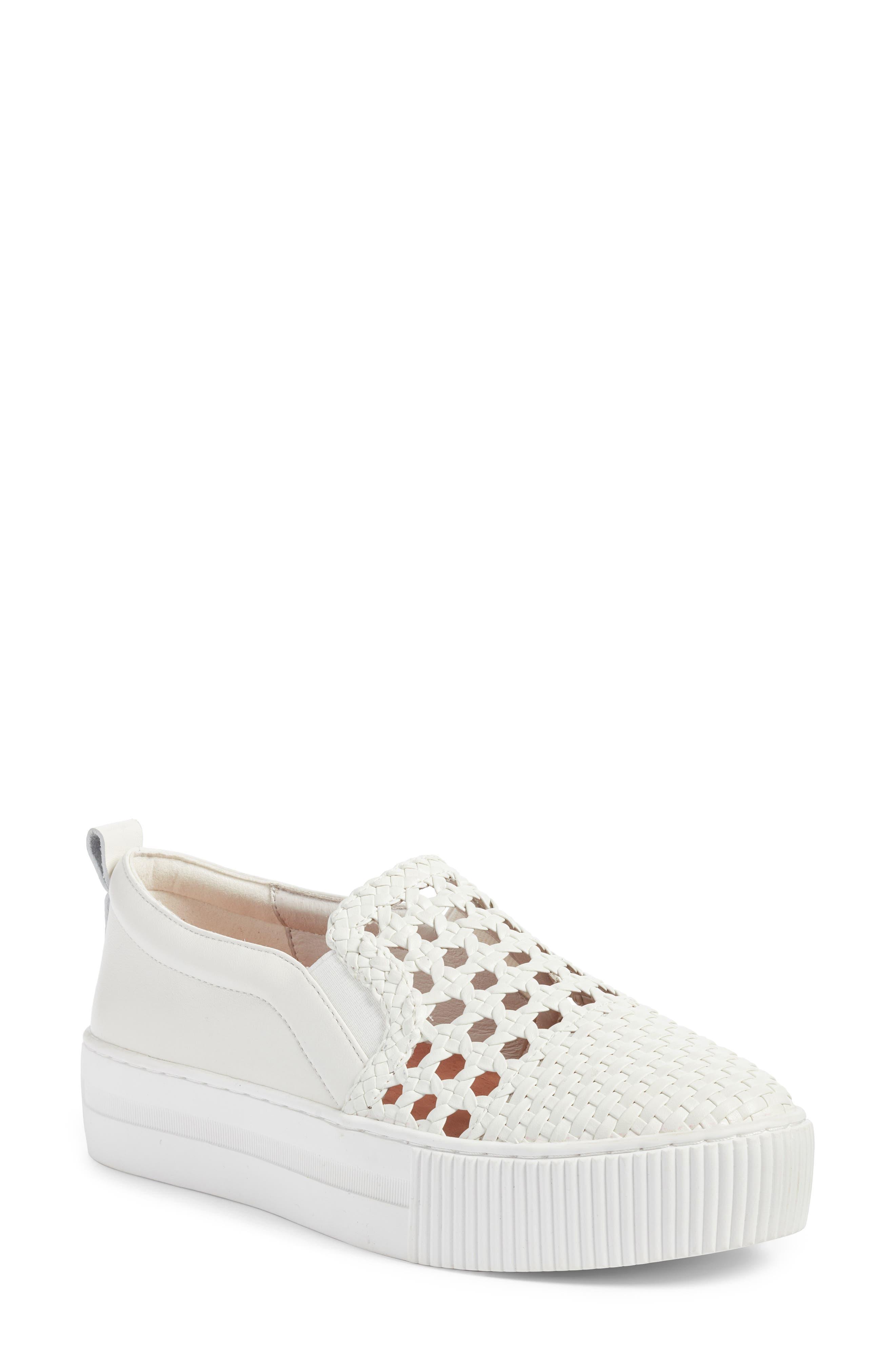 Baylee Slip-On Sneaker,                             Main thumbnail 1, color,                             WHITE WOVEN