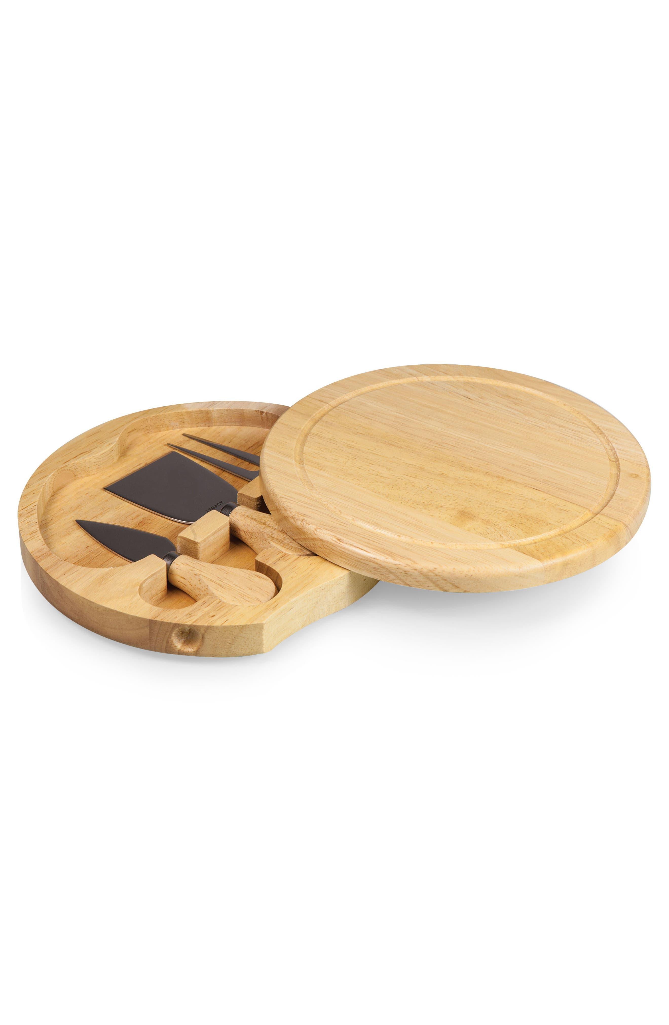 Rubberwood Cheese Board & Tools Set,                             Alternate thumbnail 2, color,                             200