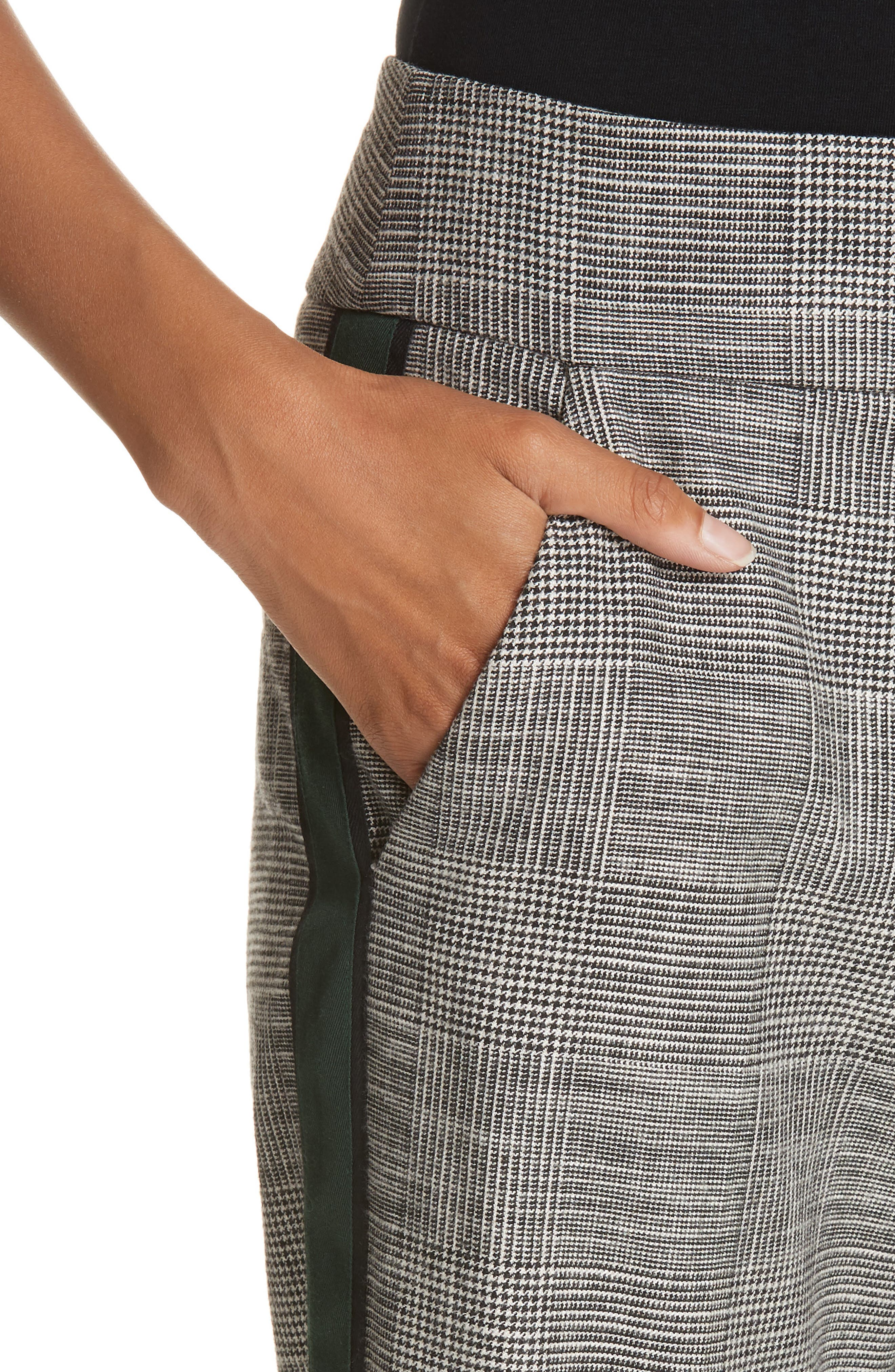 Cormac Side Stripe Check Trousers,                             Alternate thumbnail 4, color,                             020