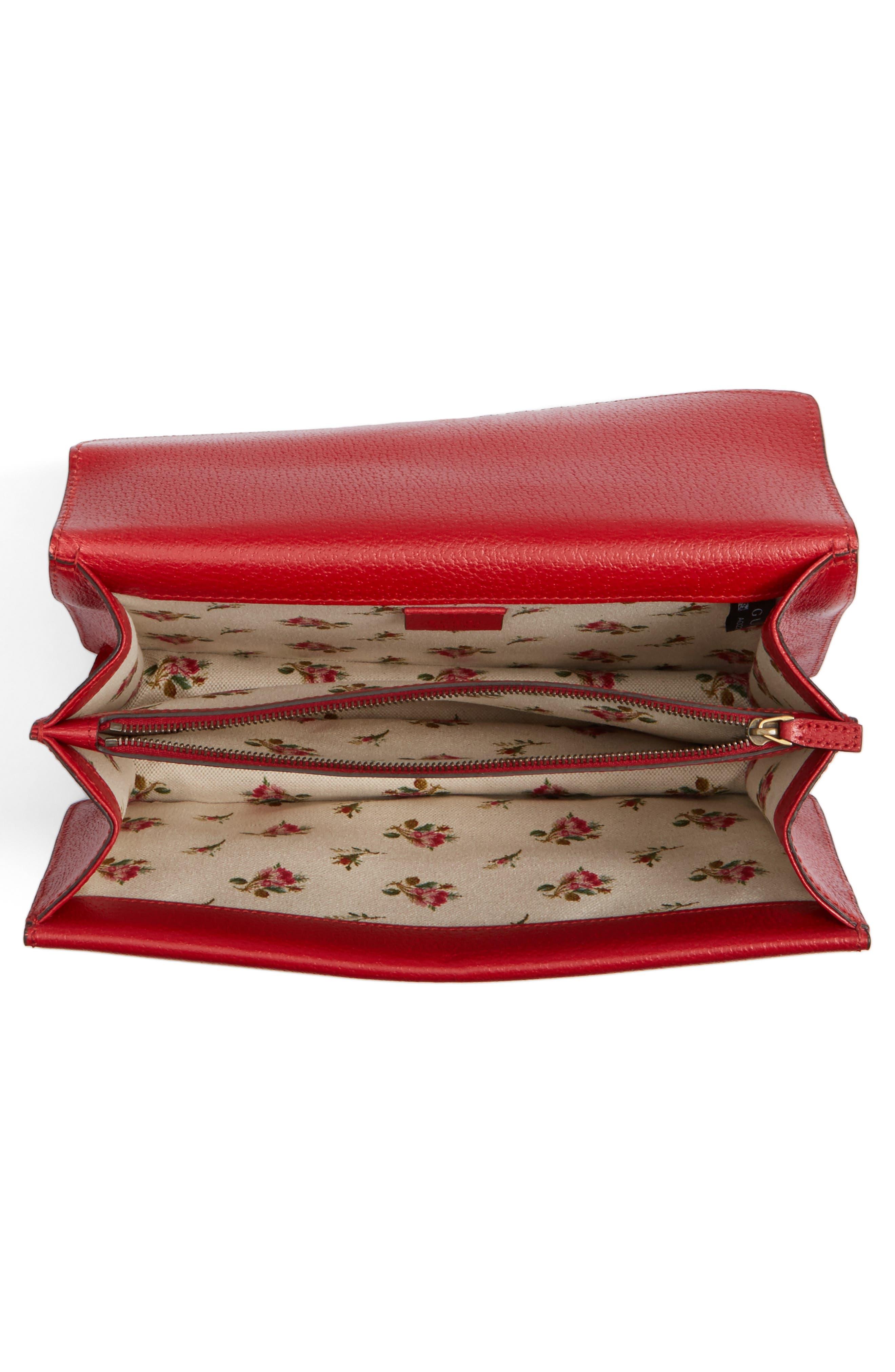 Dionysus Leather Shoulder Bag,                             Alternate thumbnail 4, color,                             625