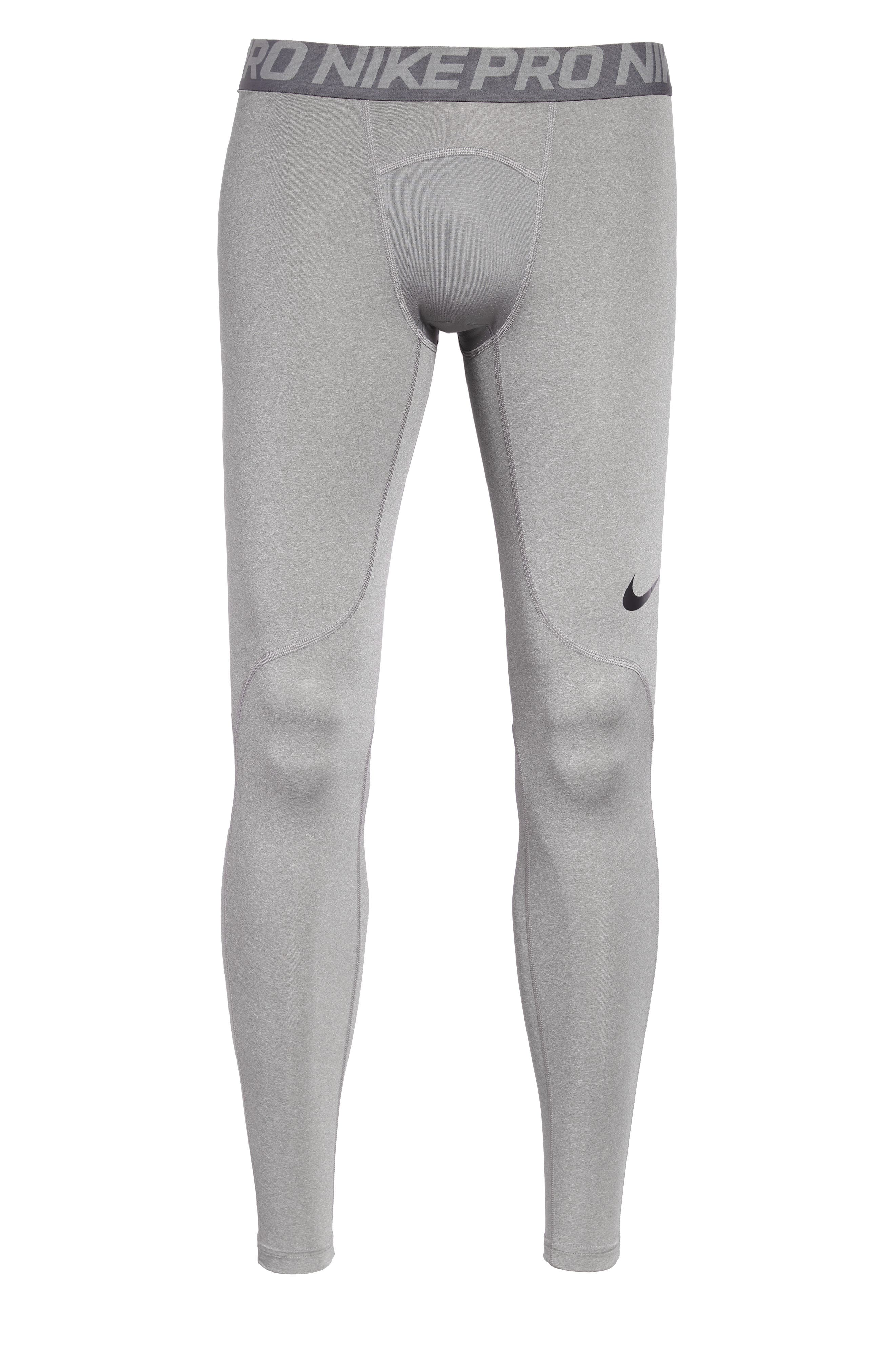 Pro Athletic Tights,                             Alternate thumbnail 6, color,                             CARBON HEATHER/ GREY/ BLACK