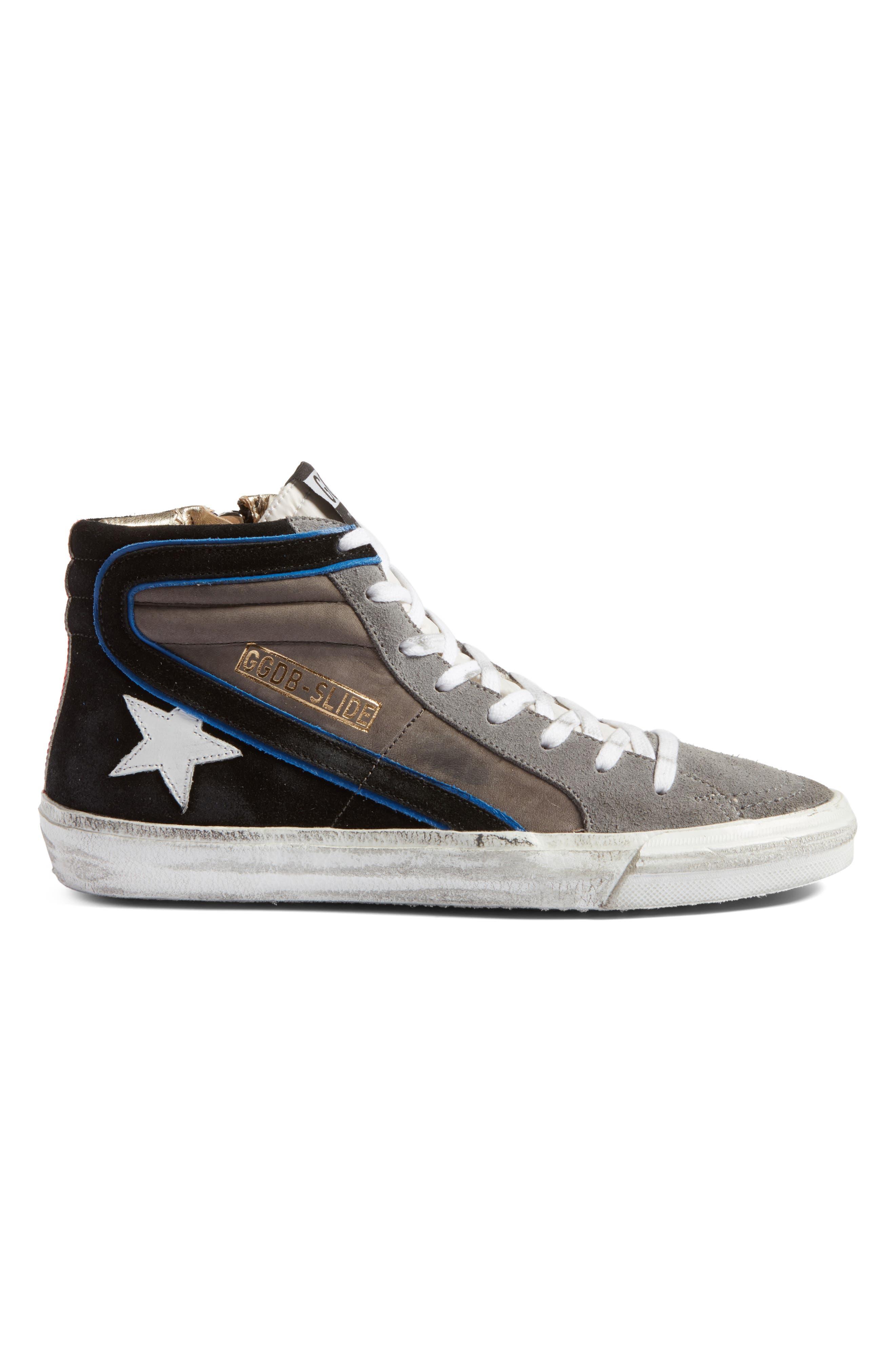Slide High Top Sneaker,                             Alternate thumbnail 3, color,                             021