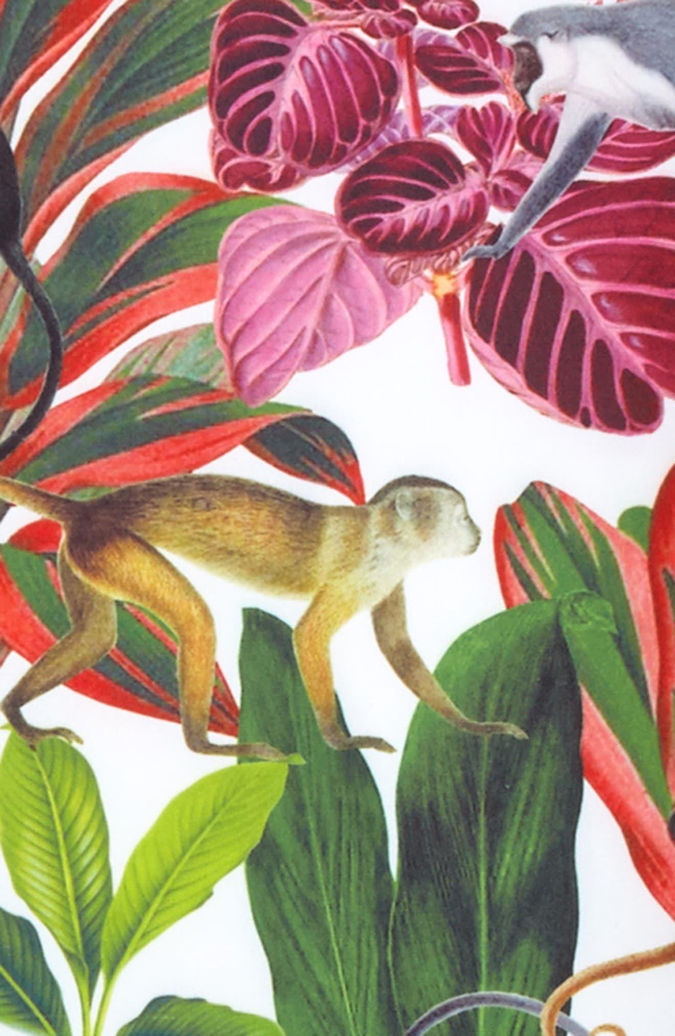 Jungle Monkeys Two-Piece Rashguard Swimsuit,                             Alternate thumbnail 2, color,                             373