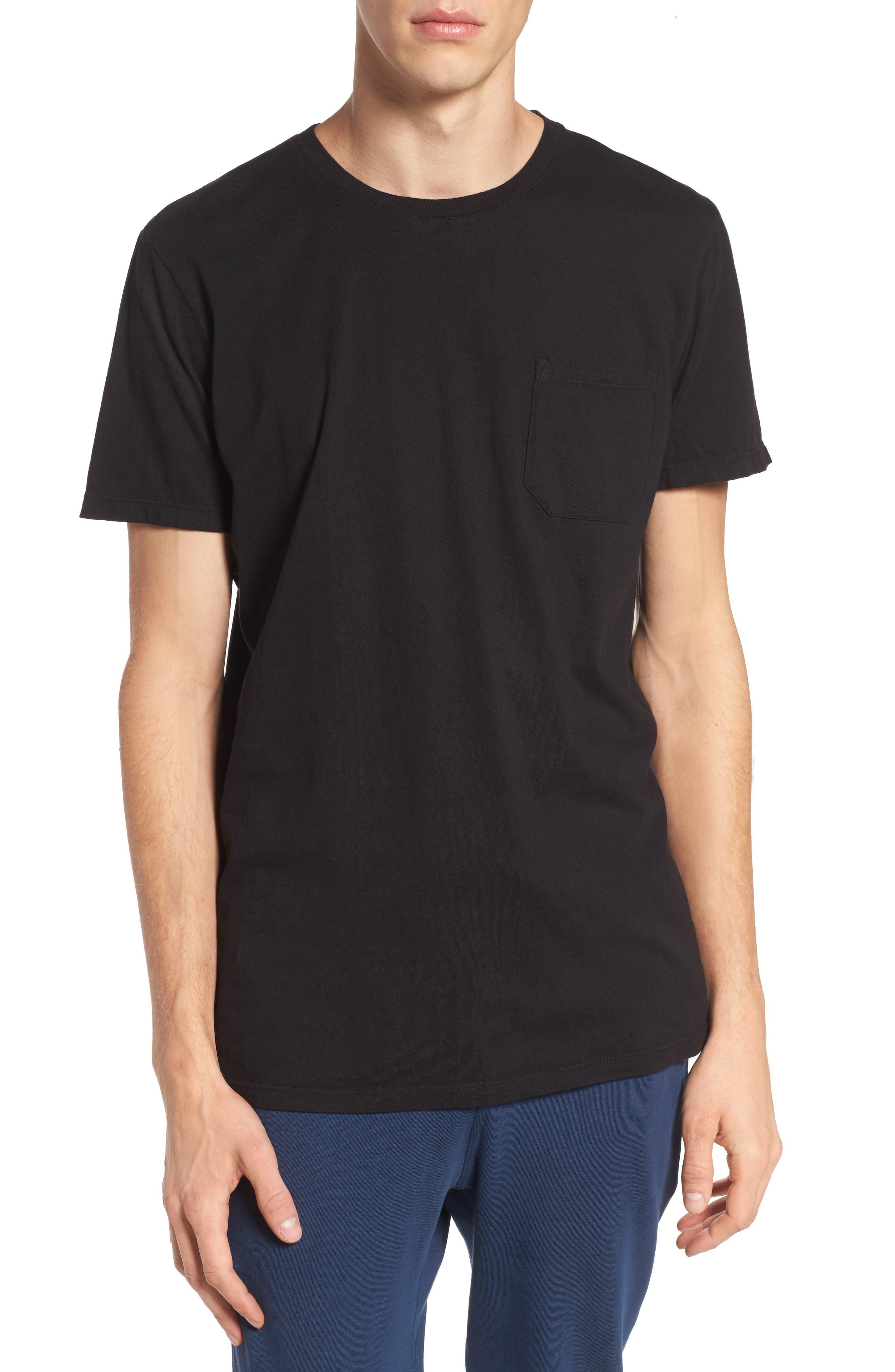 Lounge Pocket T-Shirt,                         Main,                         color, BLACK